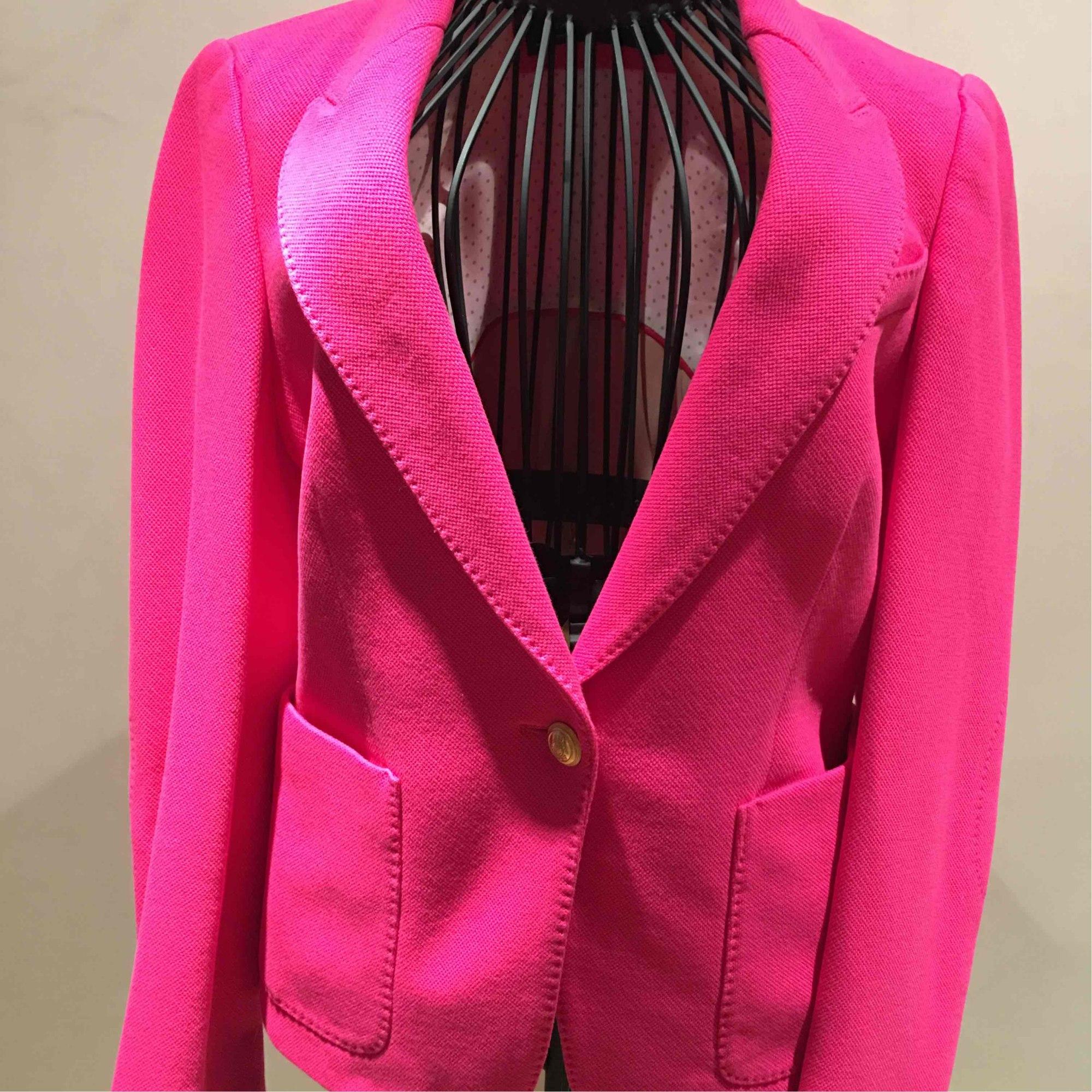Veste de tailleur rose fushia