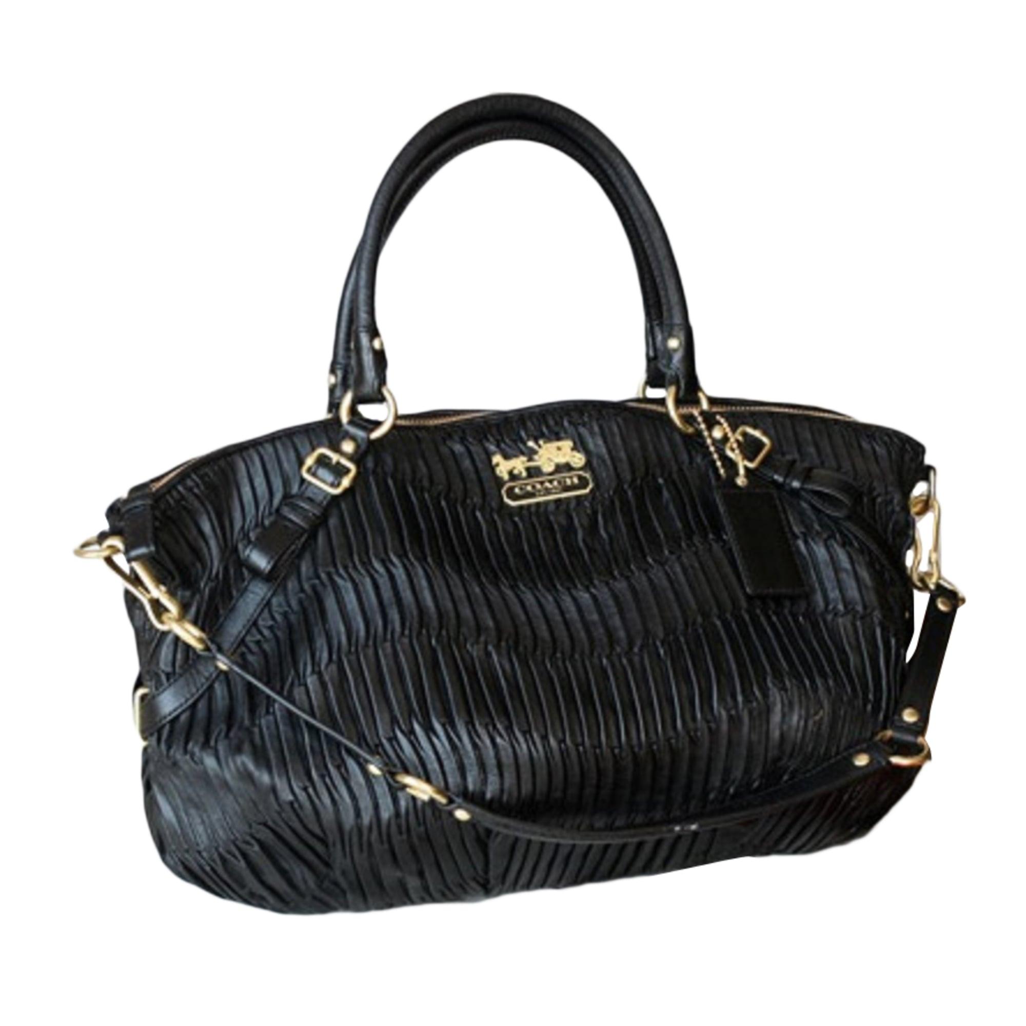 sac main en cuir coach noir vendu par dianafromcanada. Black Bedroom Furniture Sets. Home Design Ideas
