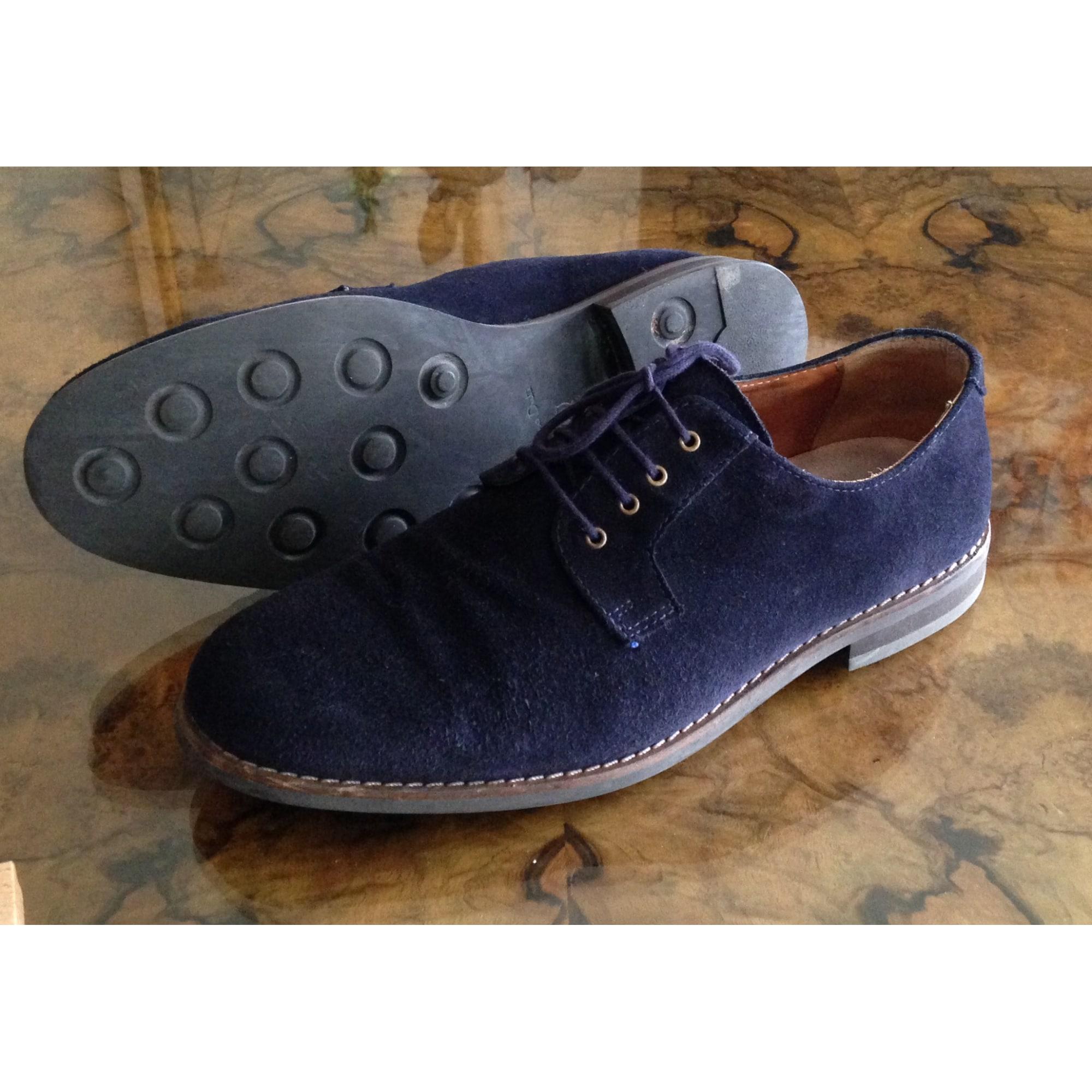 Chaussures à lacets MASSIMO DUTTI cuir noir 41 65ifwmX