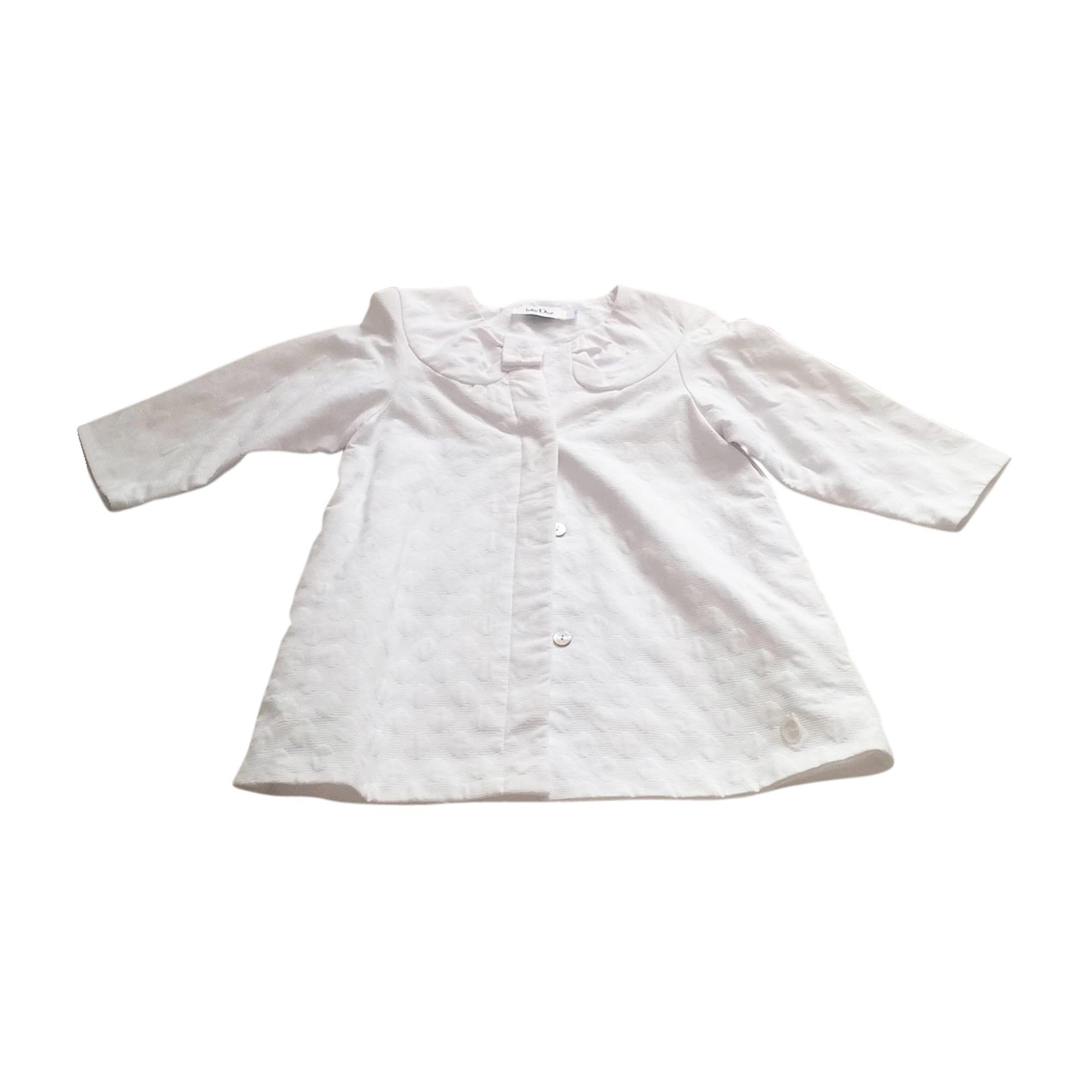 Manteau BABY DIOR Blanc, blanc cassé, écru