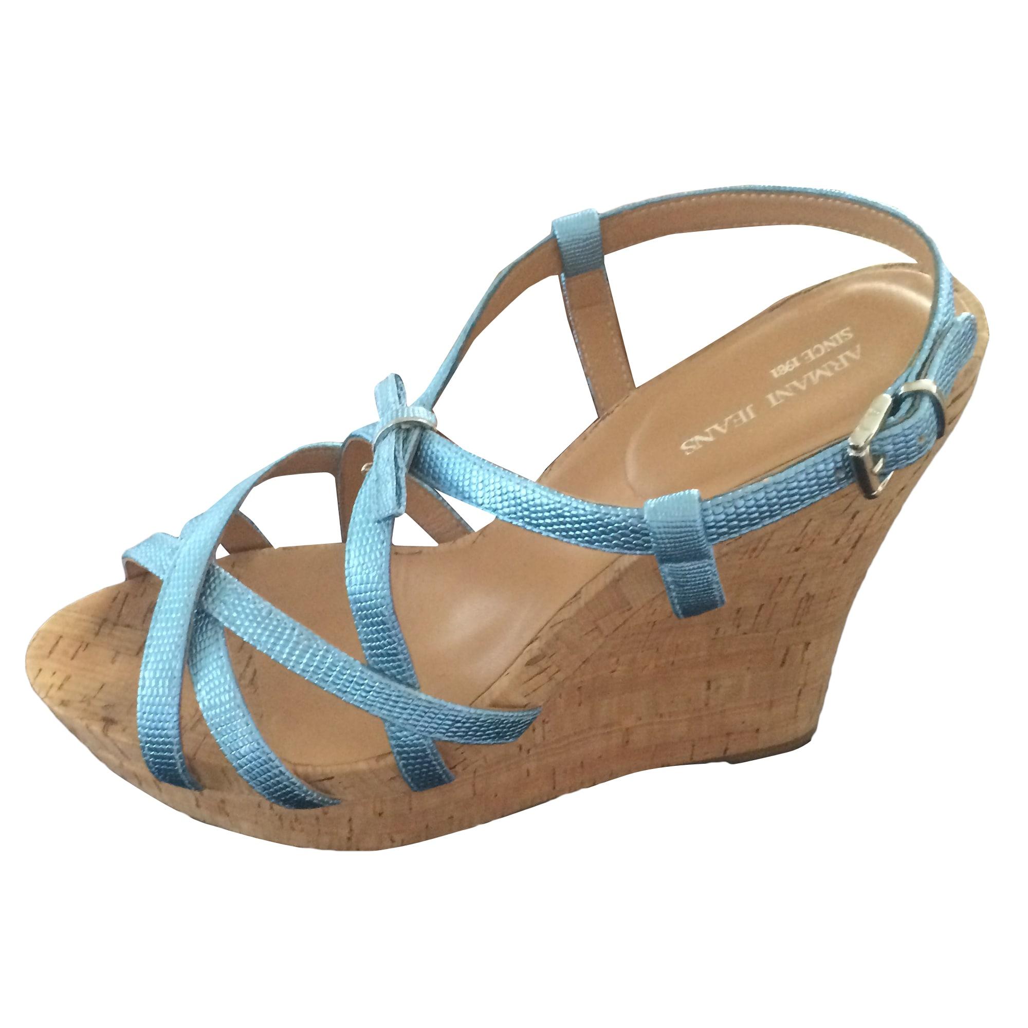 bbd832e2f1f Sandales compensées ARMANI JEANS 40 bleu - 4745081