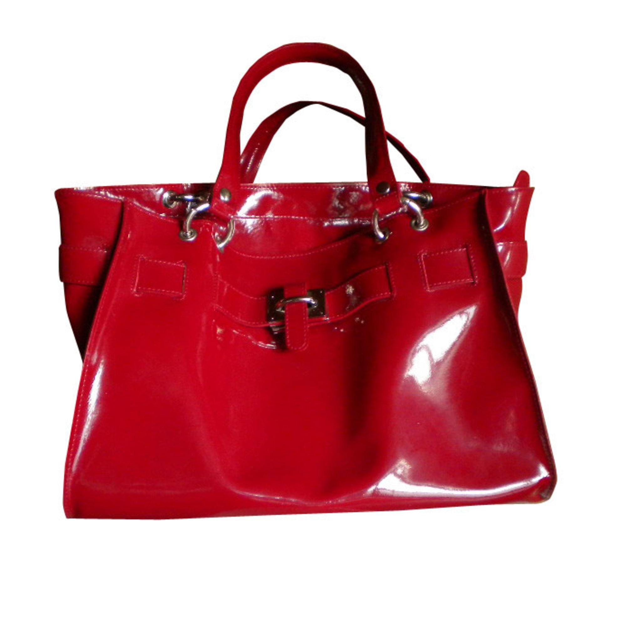 b9638caa2312 Sac à main en cuir TEXIER rouge vendu par Myriam 2