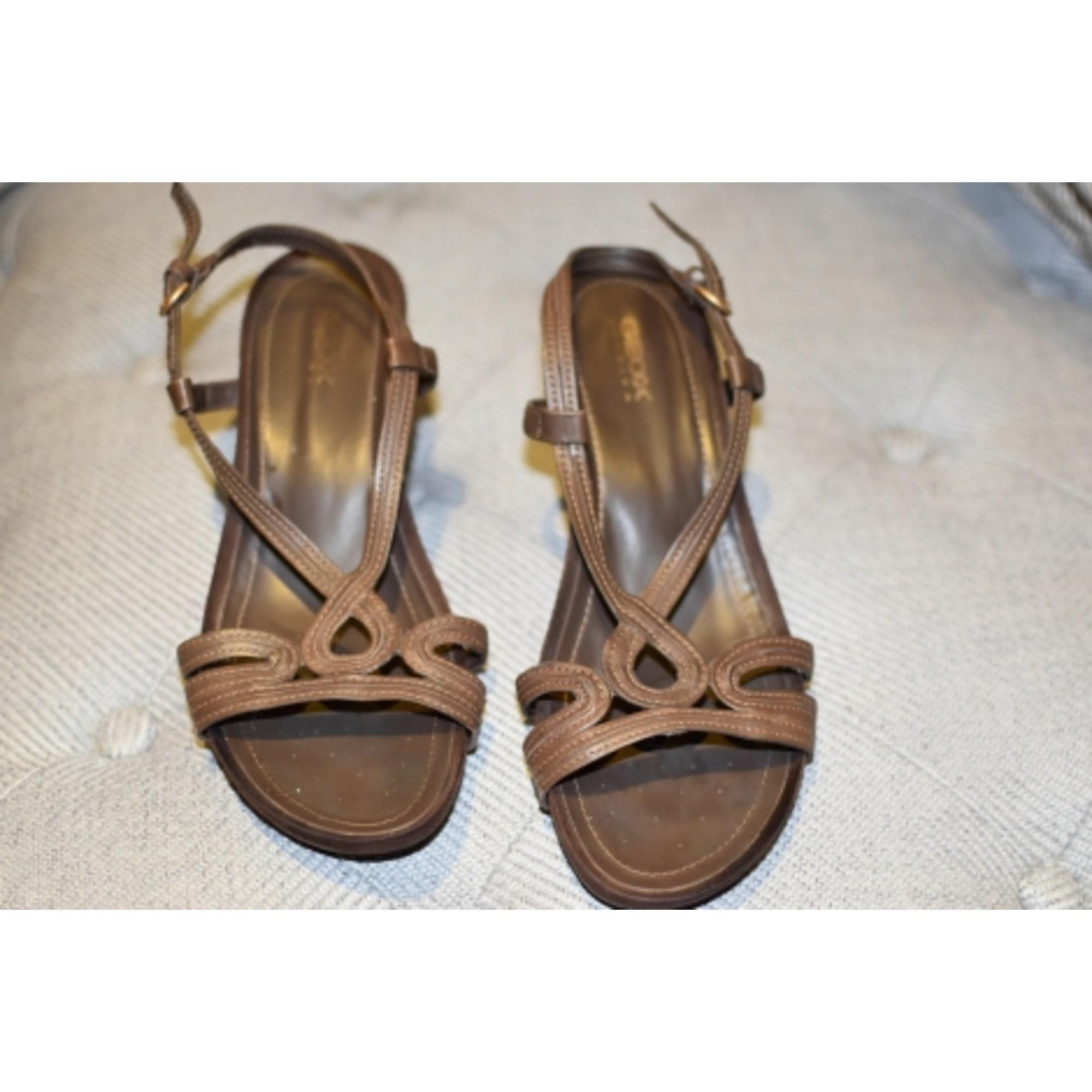 Sandales compensées GEOX 37,5 marron - 4765722 f70ec2609072