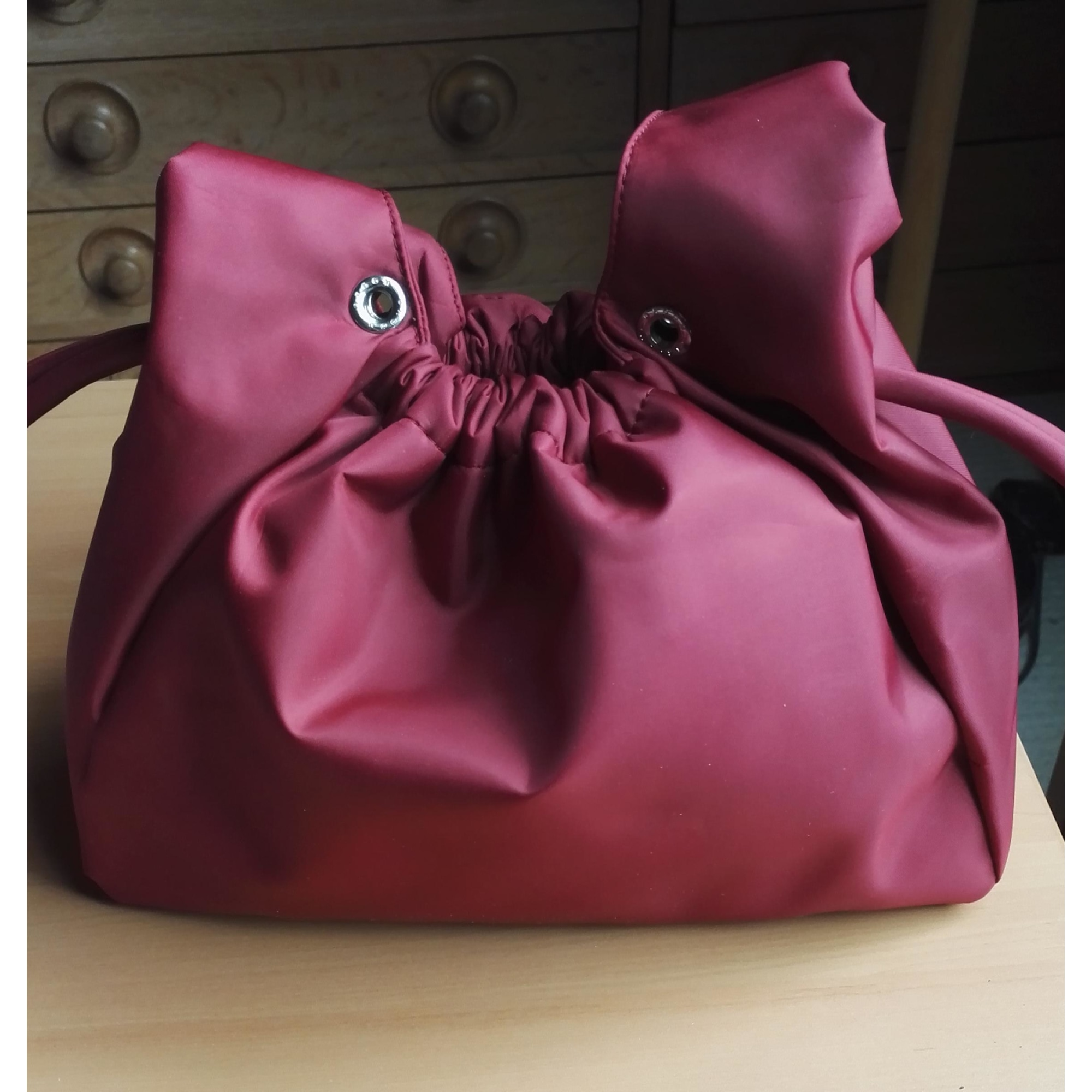 Sac à main en tissu GROOM PARIS nylon rouge
