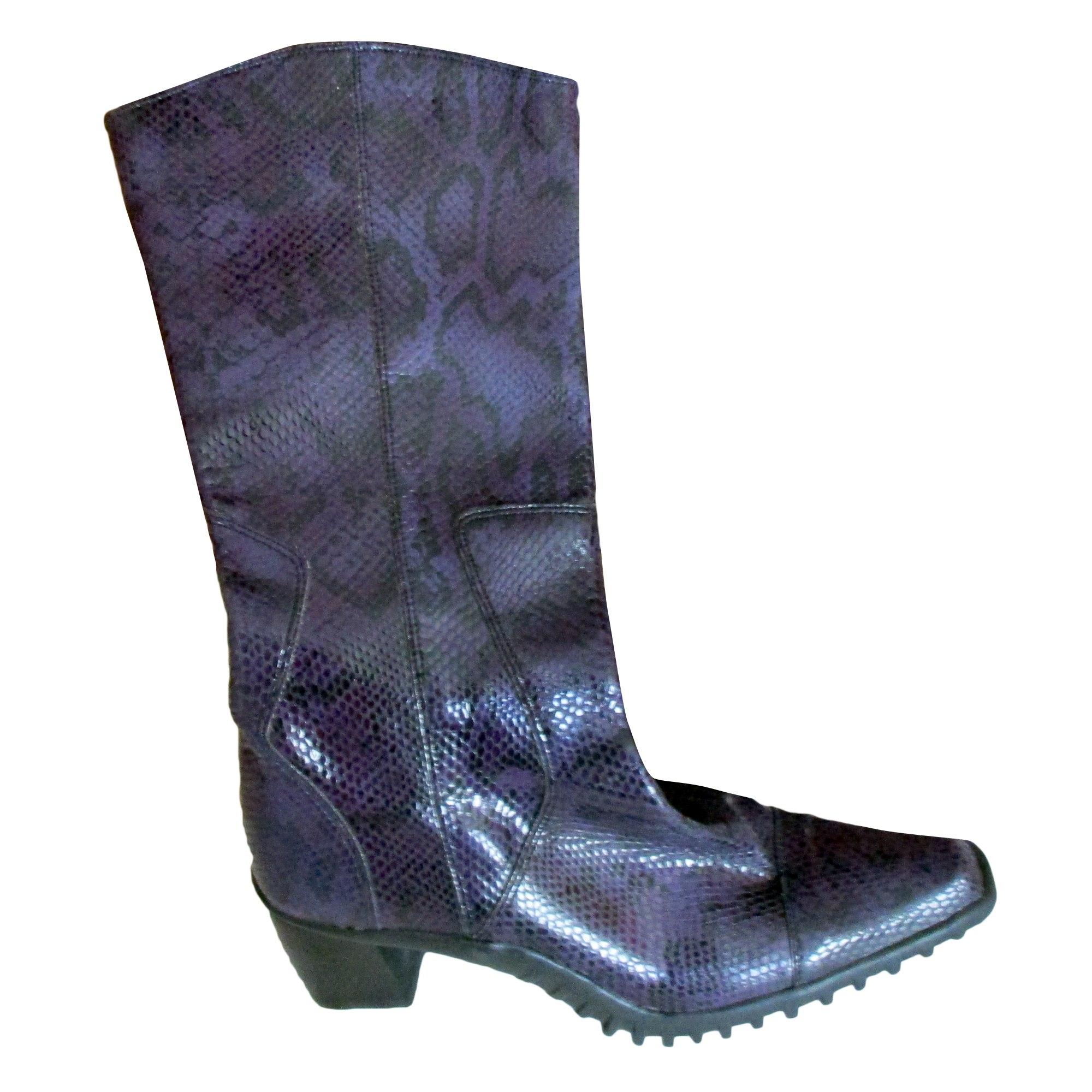 Santiags, bottes cowboy GUESS Violet, mauve,
