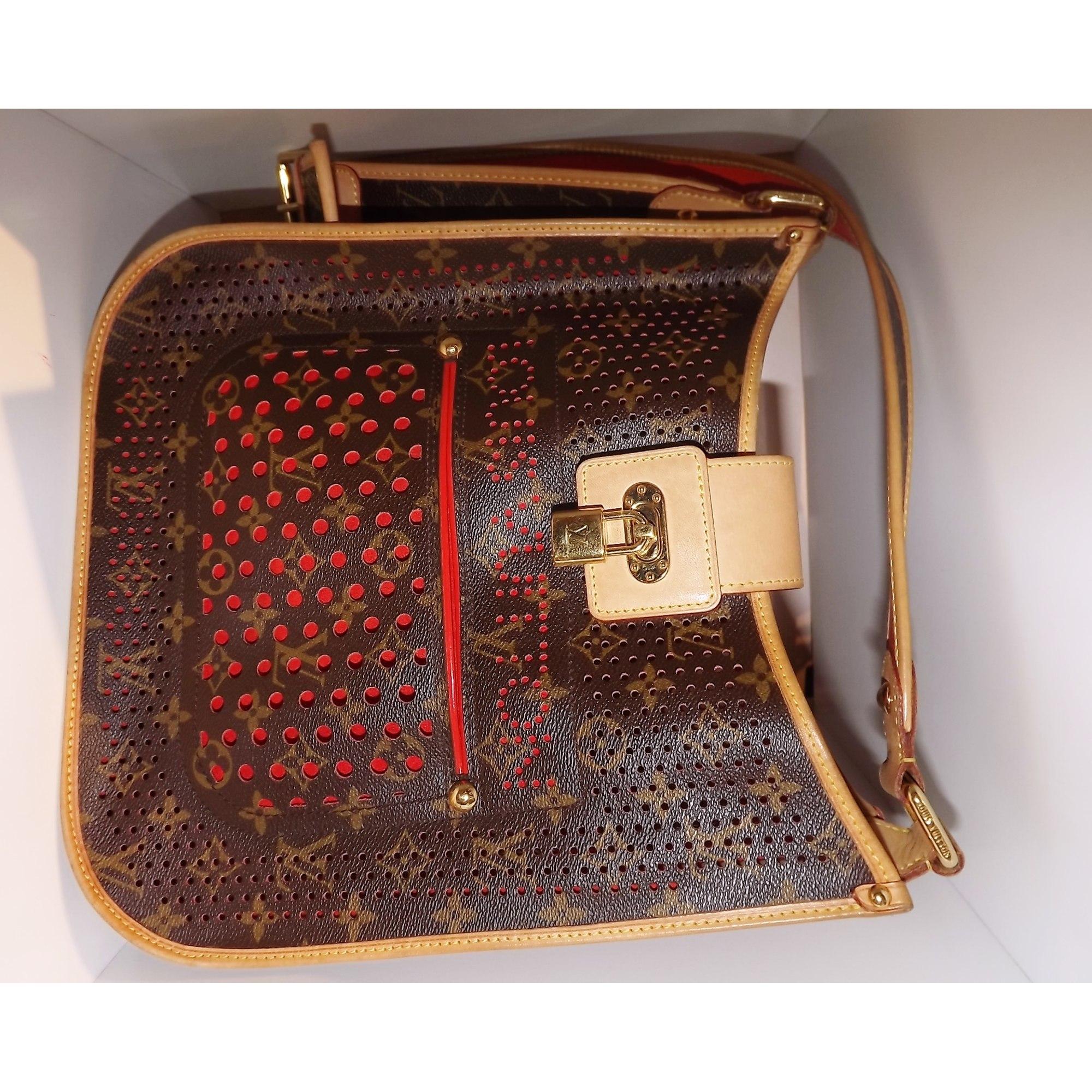 ba95f54d15e6 Sac en bandoulière en cuir LOUIS VUITTON monogramme lv  orange vendu ...