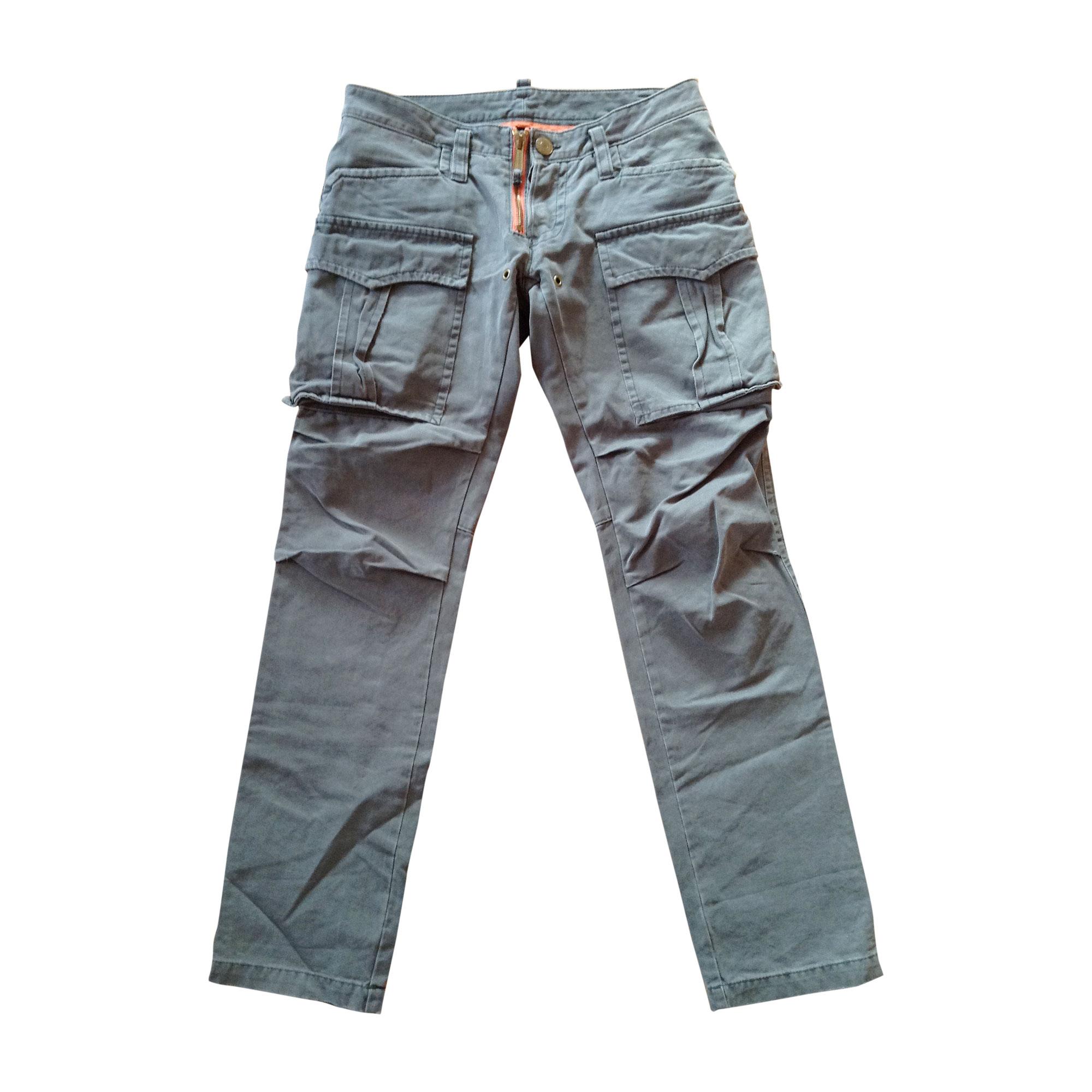 Pantalon slim DSQUARED2 Kaki