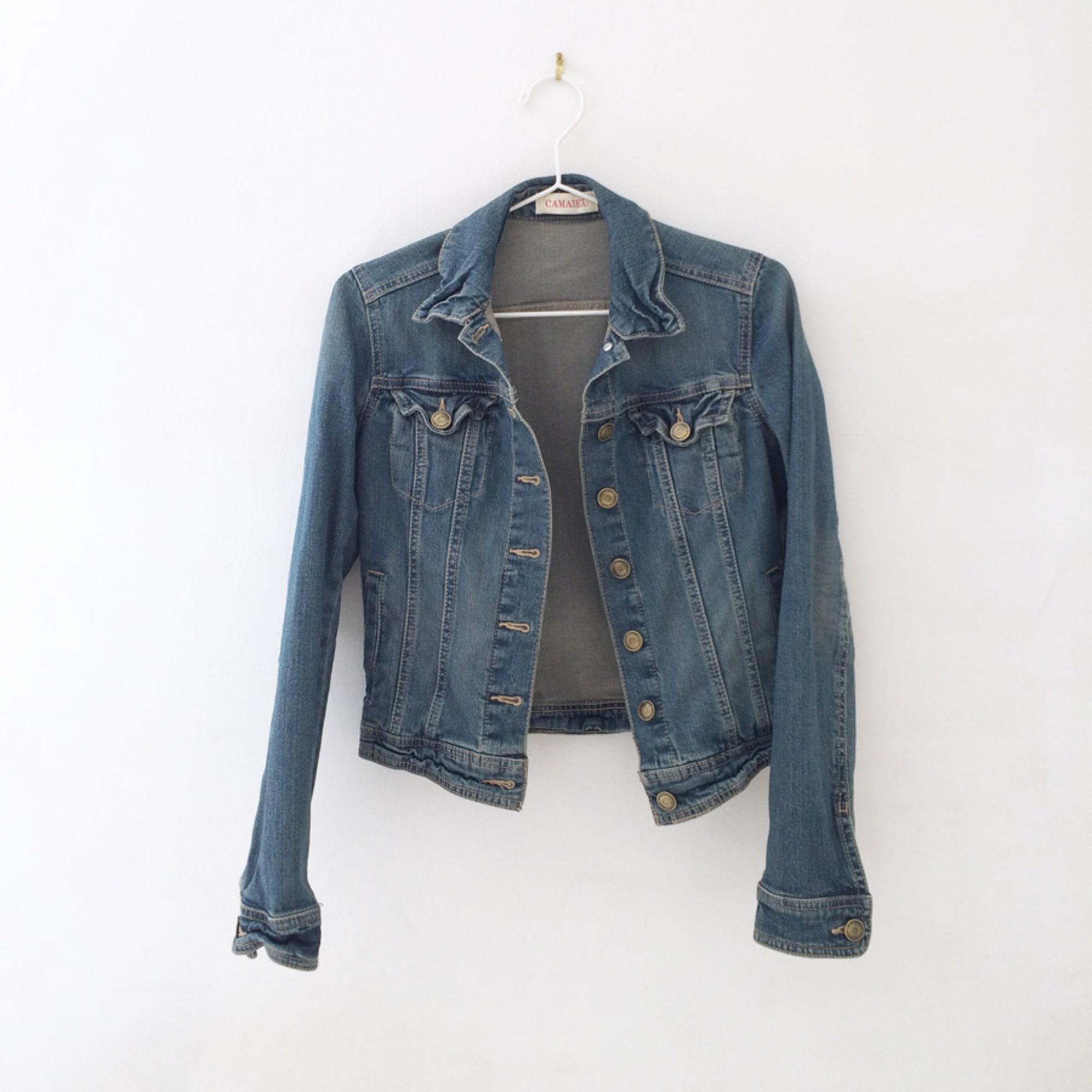 en ligne à la vente vente chaude en ligne brillance des couleurs Veste en jean