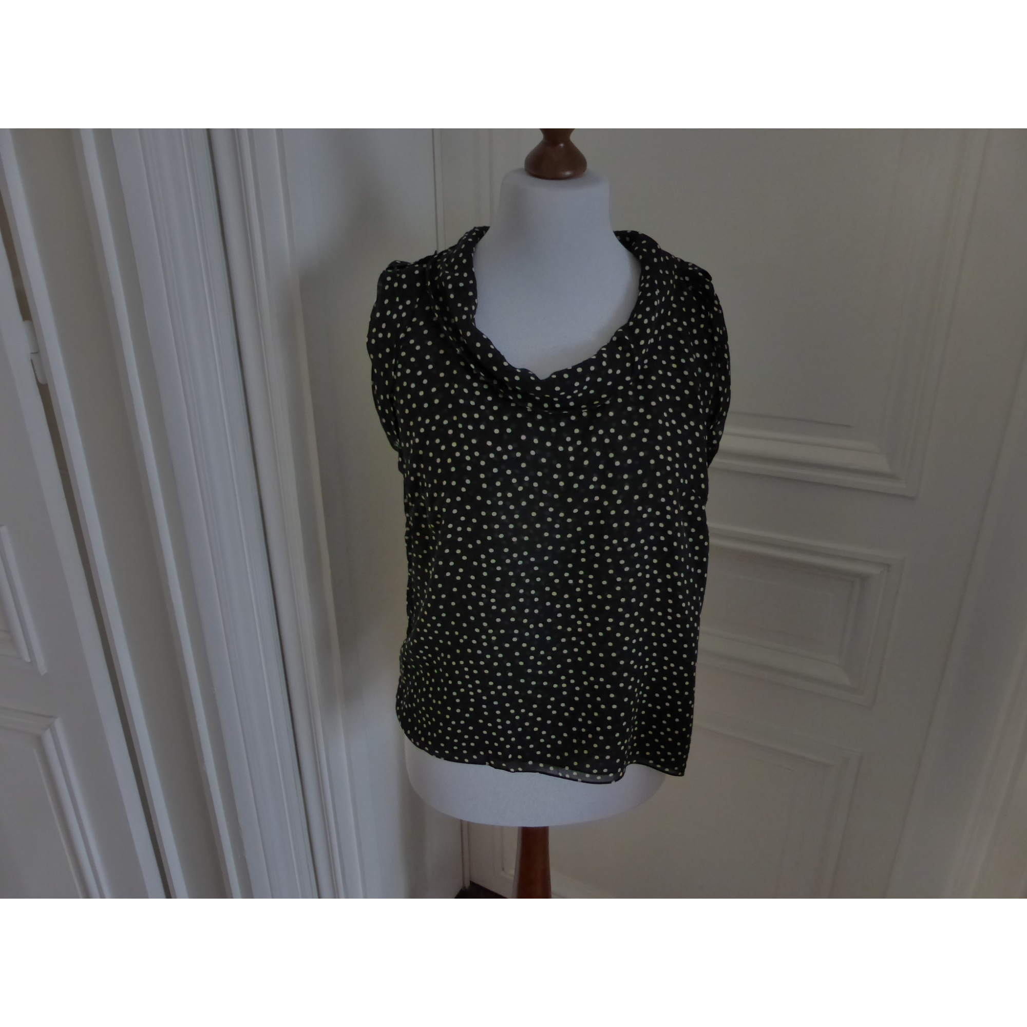 Minimaliste Synonyme top, tee-shirt synonyme de george rech 44 (xl/xxl, t5) noir et pois
