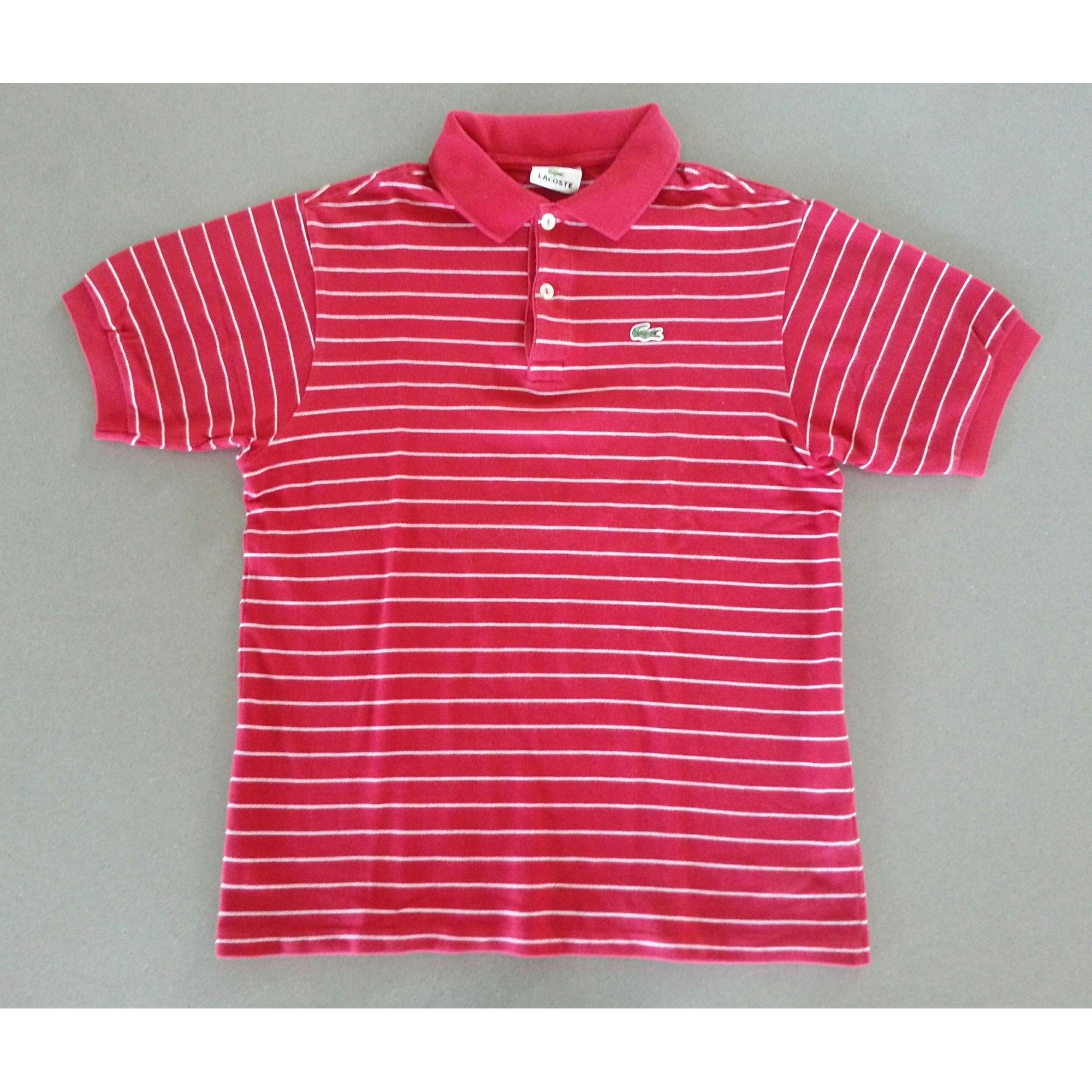 27b3d88cb5 Polo LACOSTE 15-16 ans rouge vendu par Anthonice - 4867368