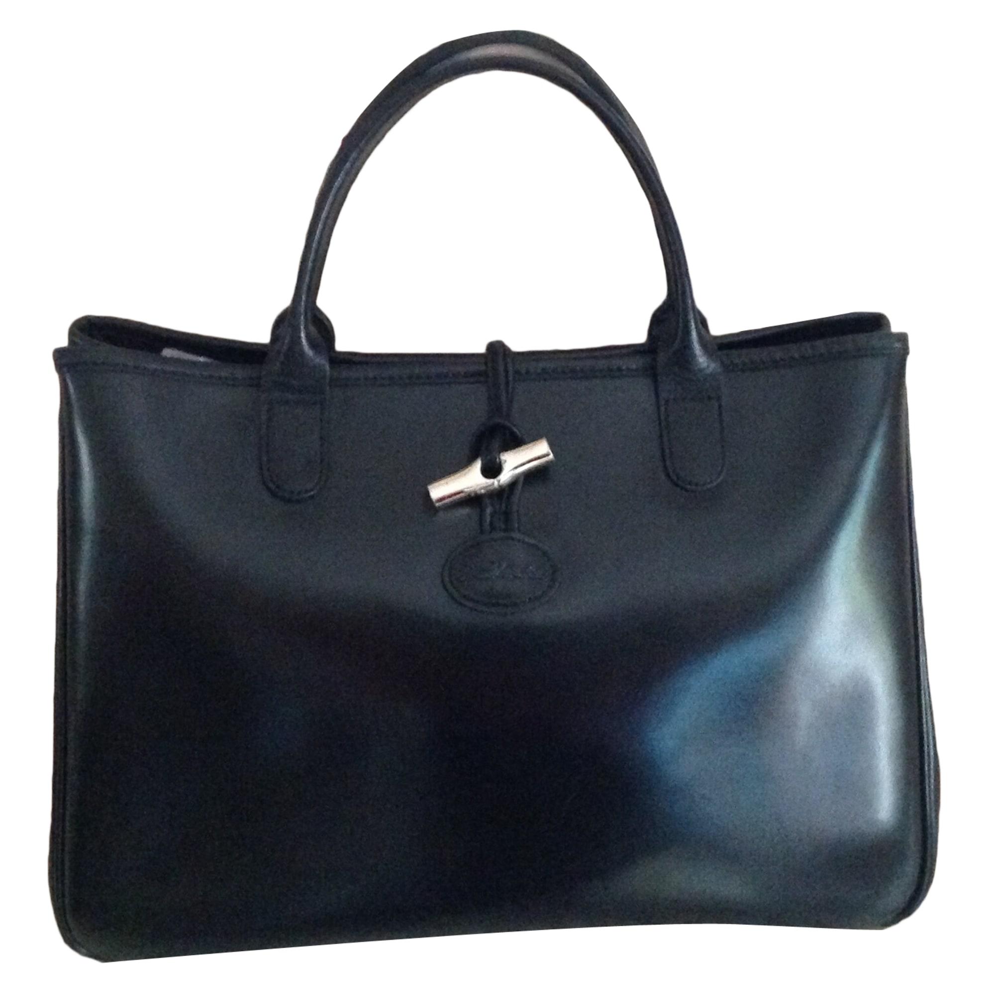 3472b4c983d Sac à main en cuir LONGCHAMP noir brillant vendu par Yonit - 4867820