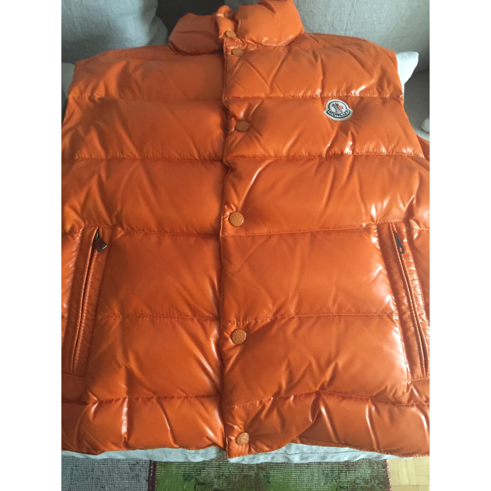 Doudoune MONCLER 46 (S) orange - 4882961 f9b5ddb2b28