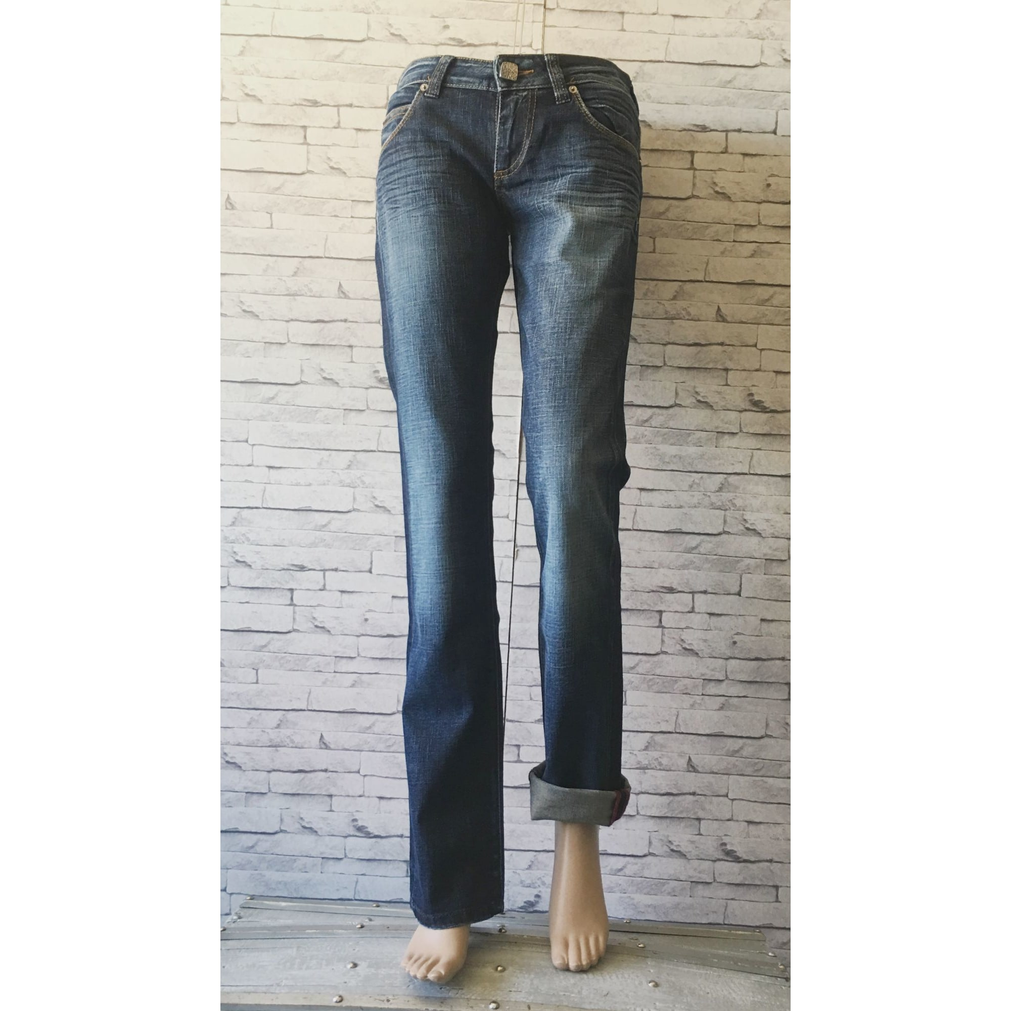 Jeans droit MISS SIXTY Brut used