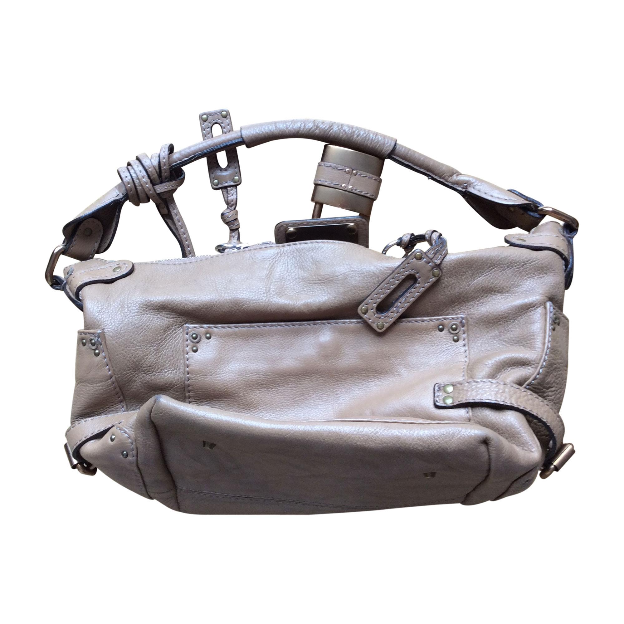 leather shoulder bag chlo beige vendu par le vide dressing de caroline 5 4909542. Black Bedroom Furniture Sets. Home Design Ideas