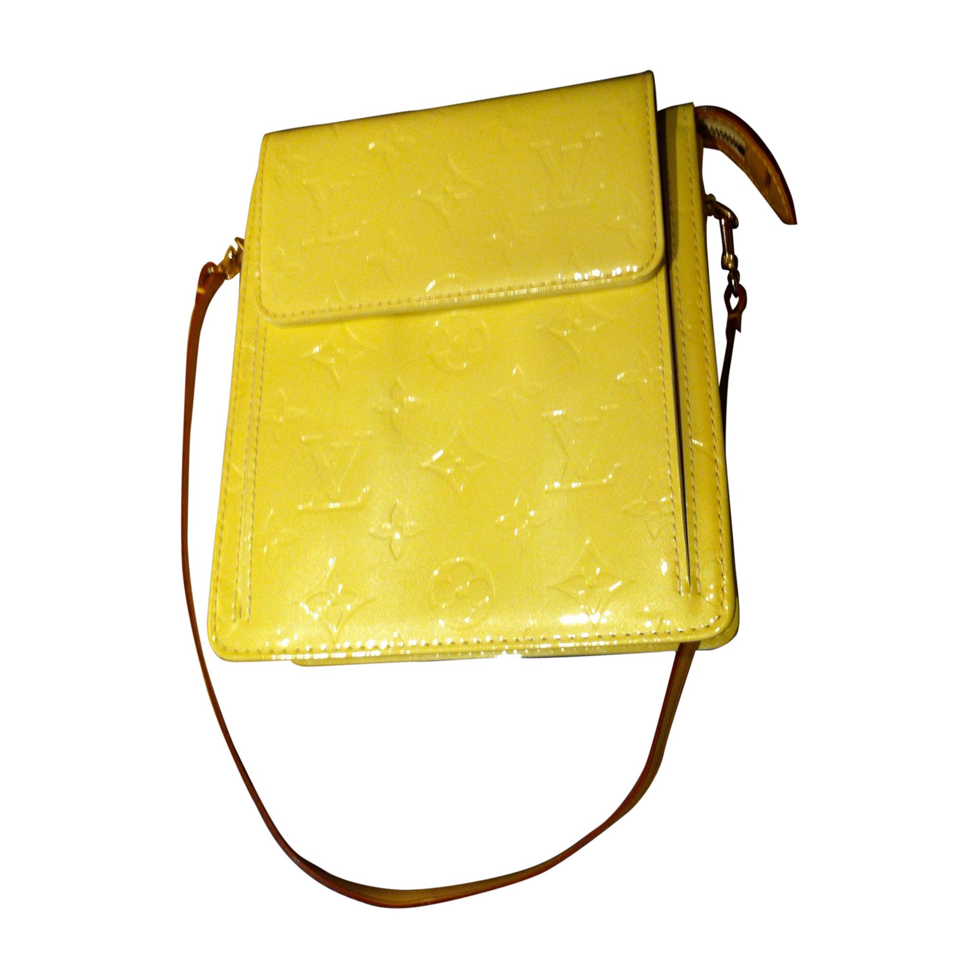 Sac pochette en cuir LOUIS VUITTON jaune - 4917829 c5563069ae3