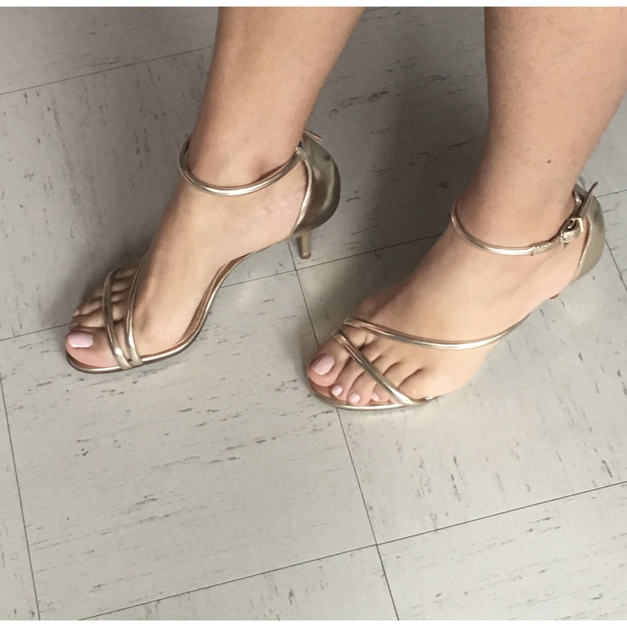 0b0ec882512a00 Sandales à talons ANDRÉ Doré, bronze, cuivre