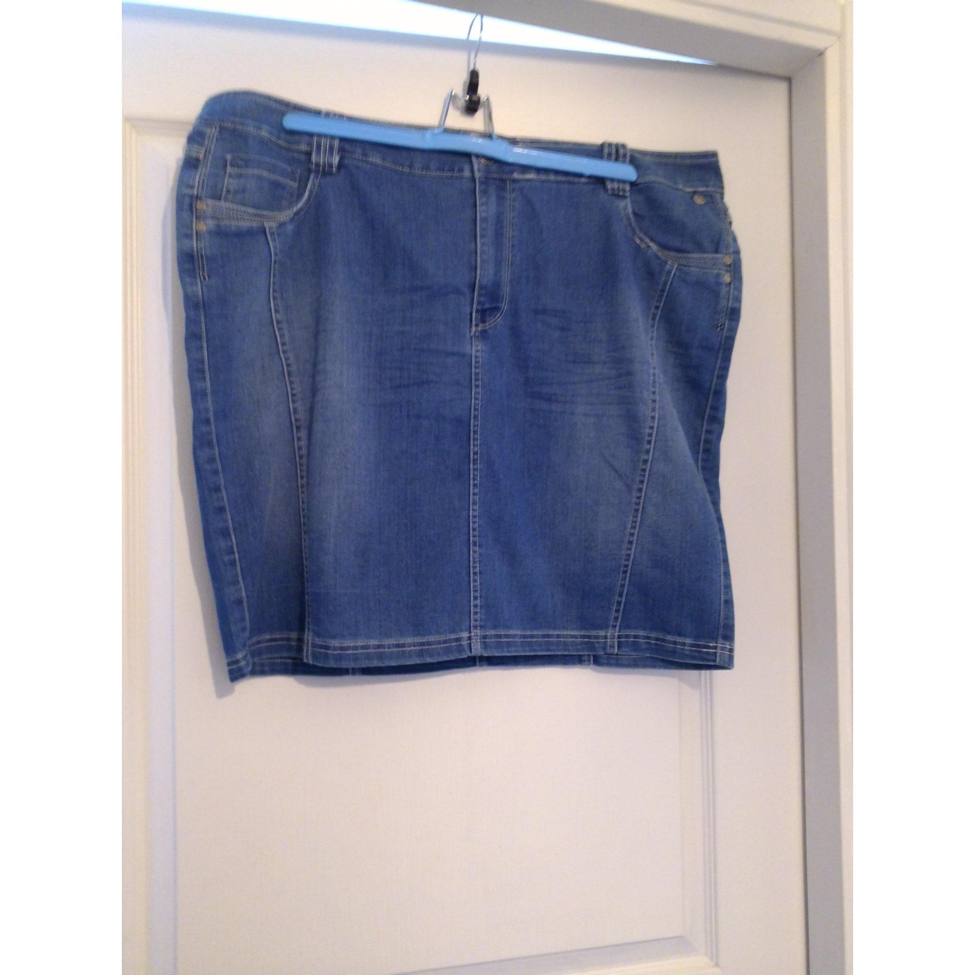 Jupe en jean MS MODE Bleu, bleu marine, bleu turquoise 44be6db09c15