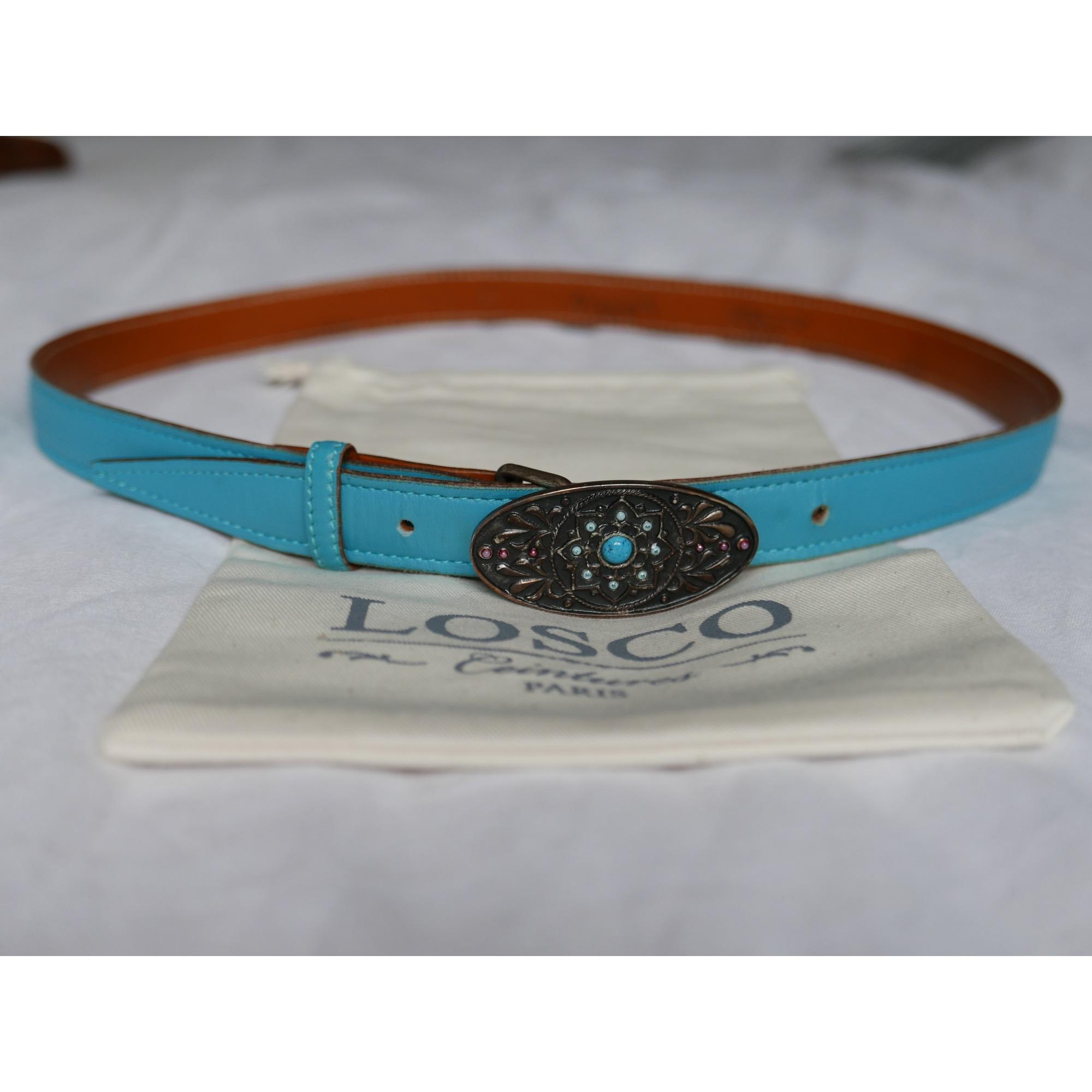 Ceinture fine LOSCO Bleu, bleu marine, bleu turquoise 382add1b76b