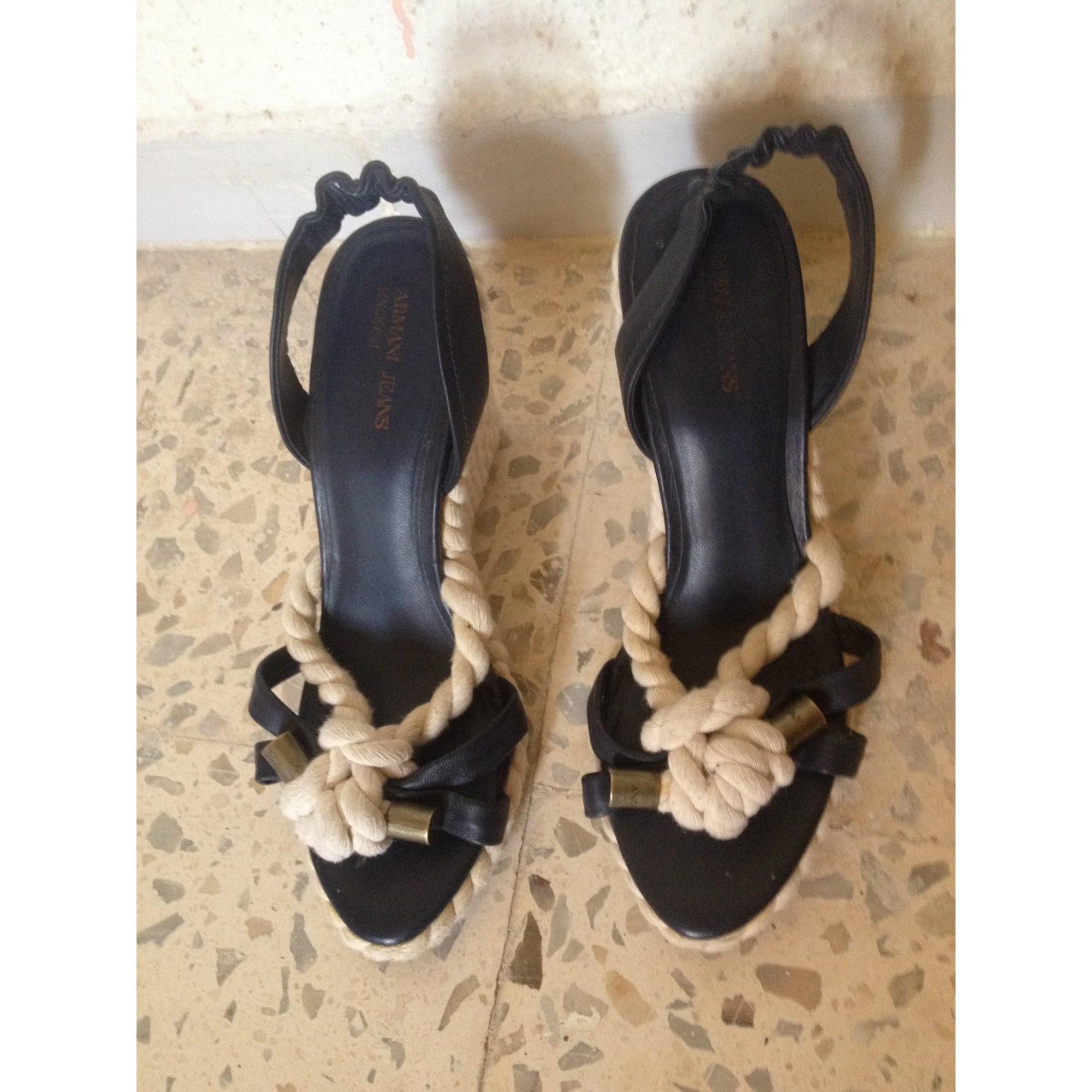 Sandales Bleu Par 4952614 Jeans Armani Vendu Sabrine87 Compensées 38 QdtCshr