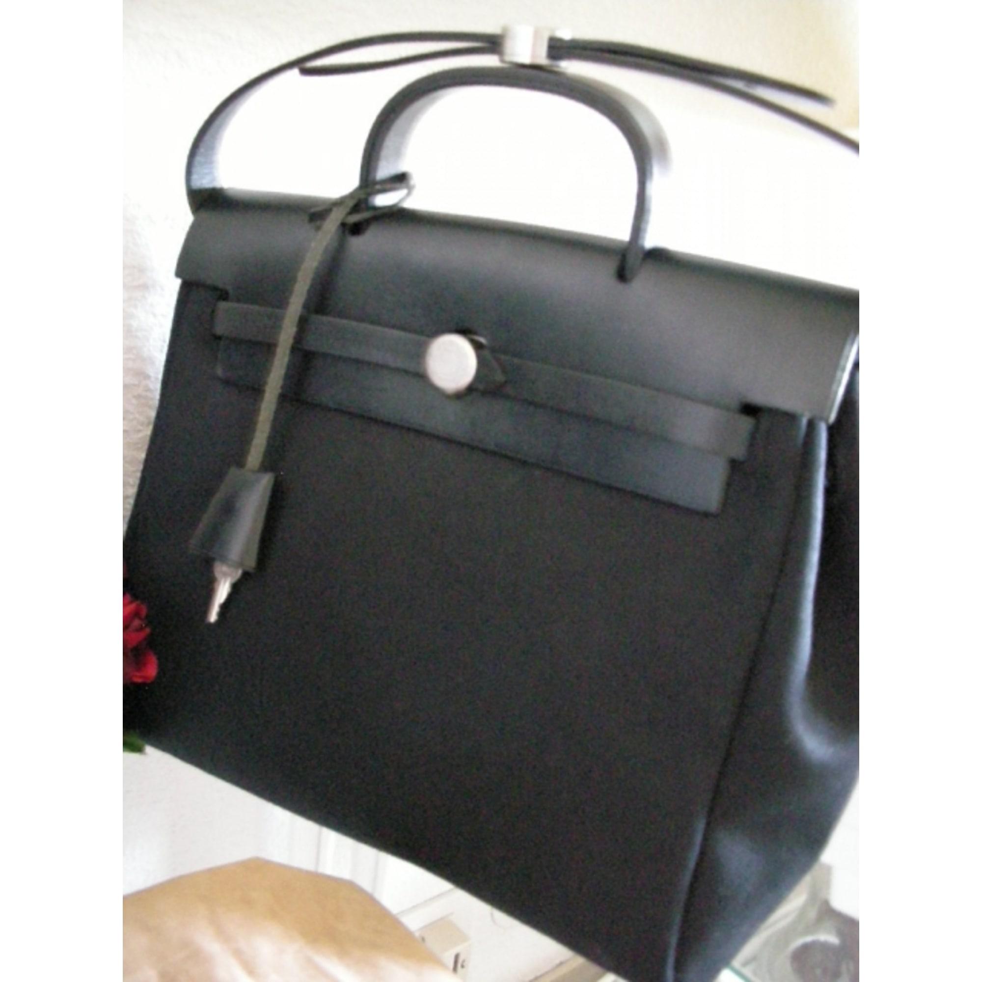 sac à main en cuir hermÈs noir - 497378