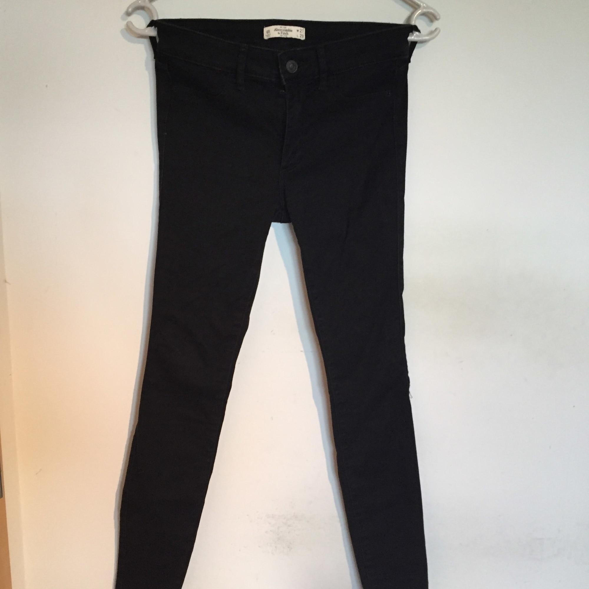 Jeans slim ABERCROMBIE & FITCH Noir