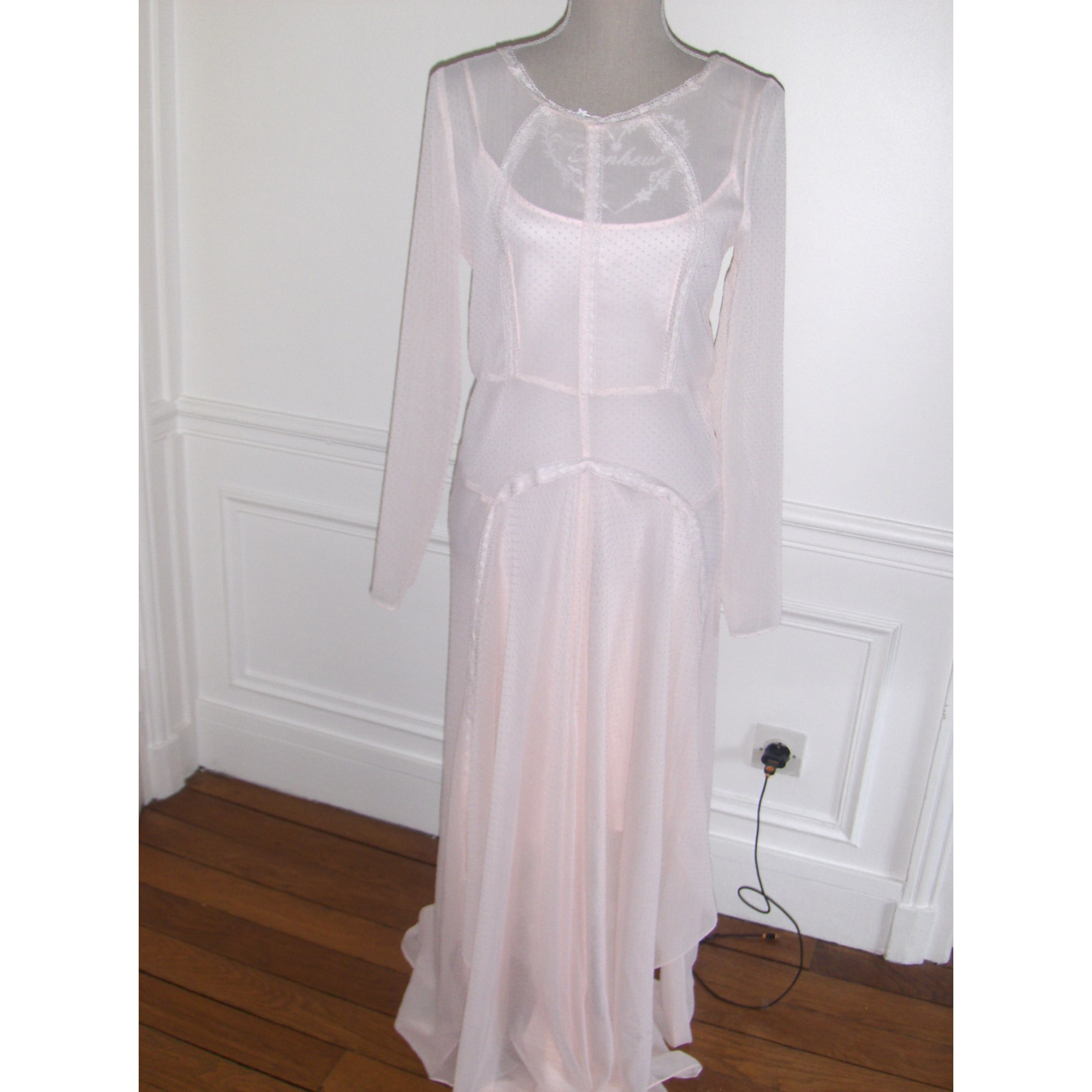 robe longue nouvelle collection maje rose