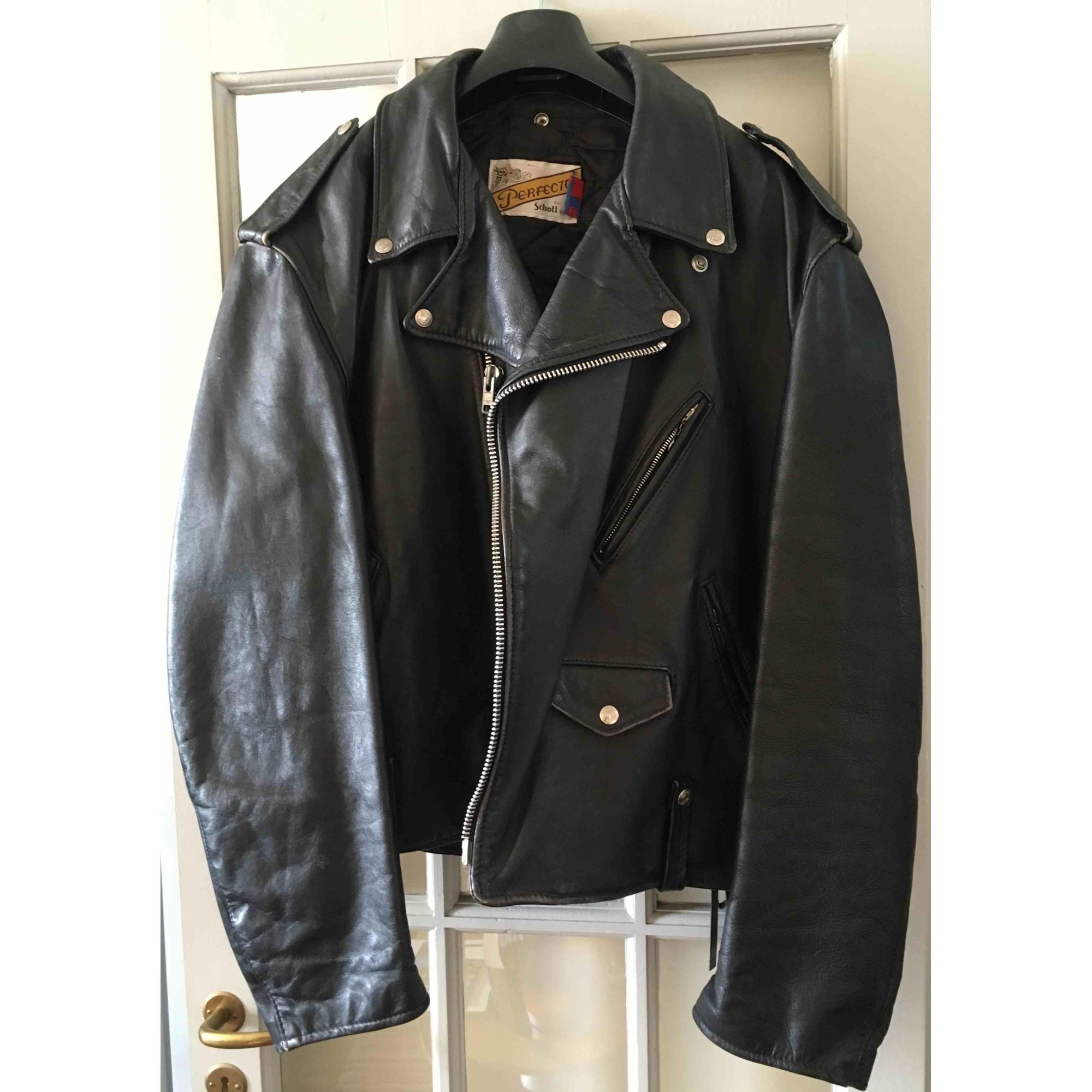 70% de réduction Soldes Kooples Blouson cuir noir vintage