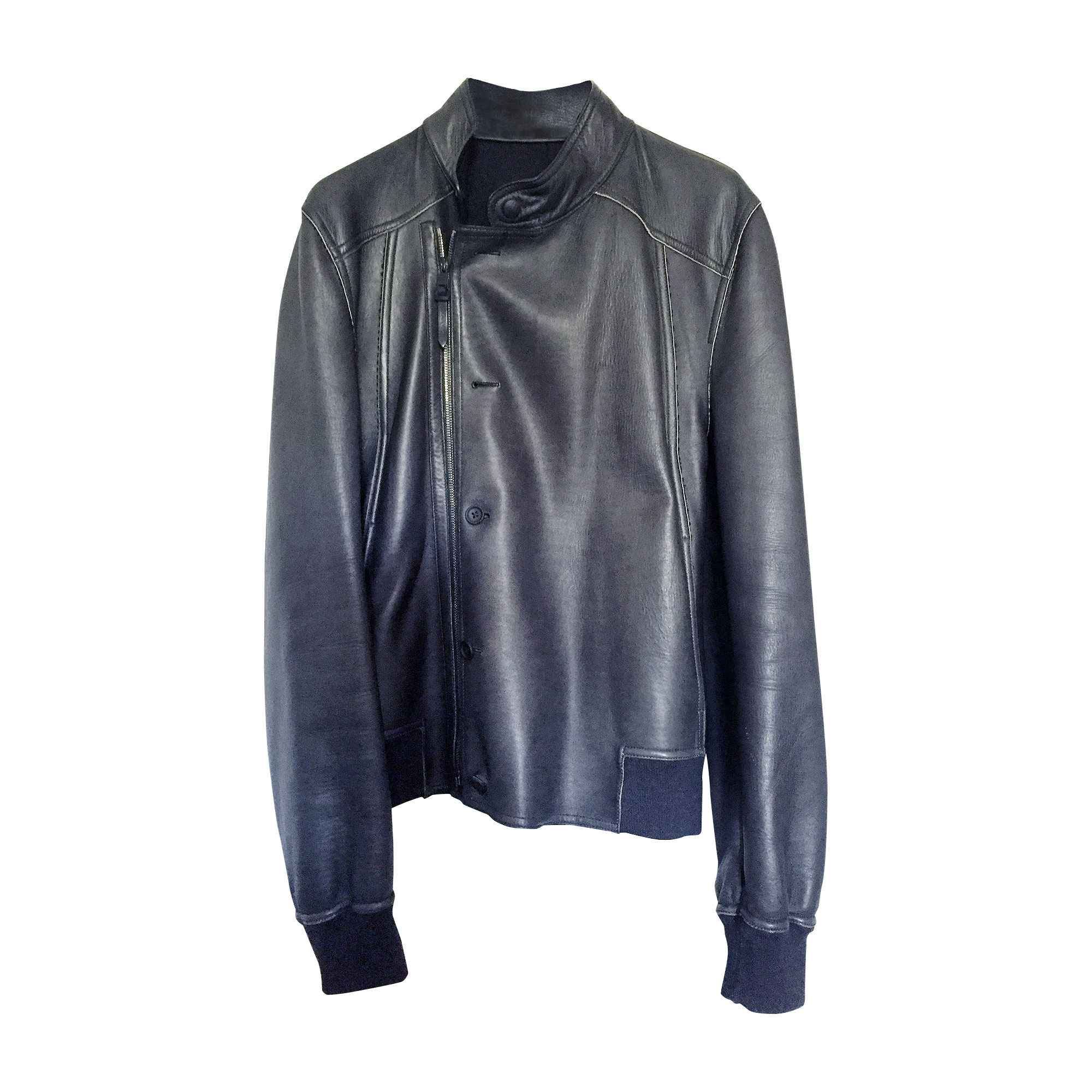 leather jacket louis vuitton 48 m black 5040960