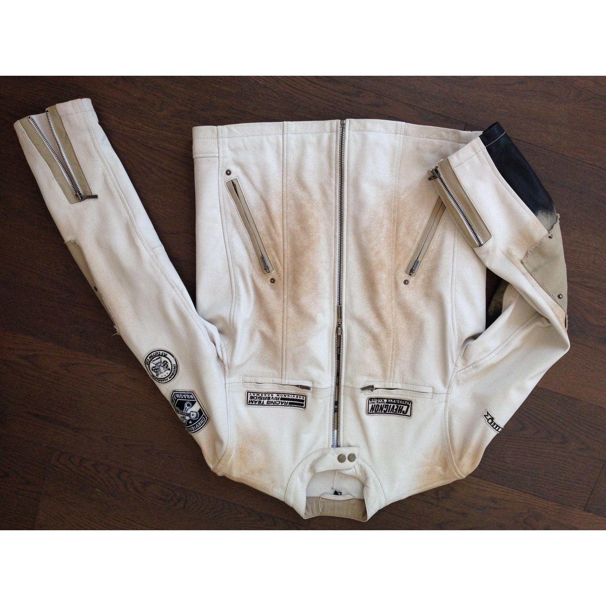 Par l 52 Dress Vendu Blouson Blanc Troc Chevignon Cuir En De xqBxaRI0
