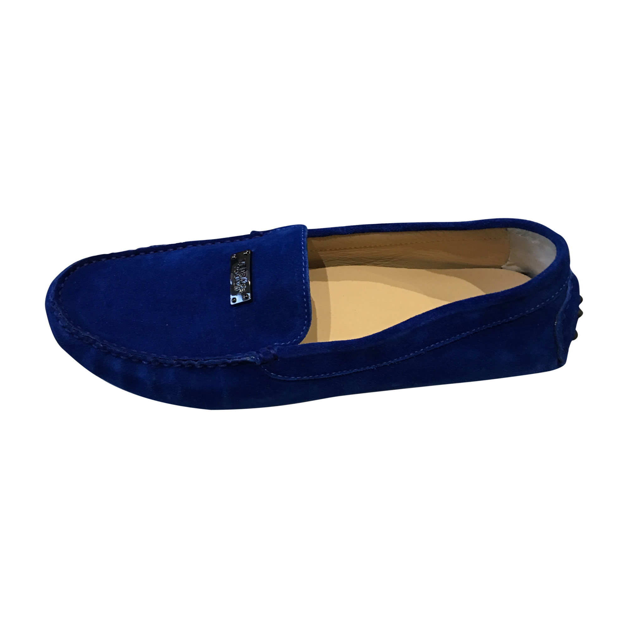Mocassins VERSACE 40 bleu vendu par Saliha 81 - 5061174 e9338fad740