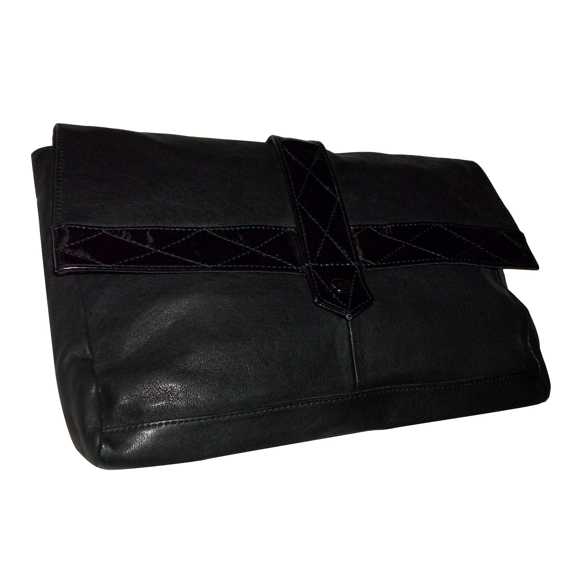 Sac pochette en cuir BEL AIR Noir