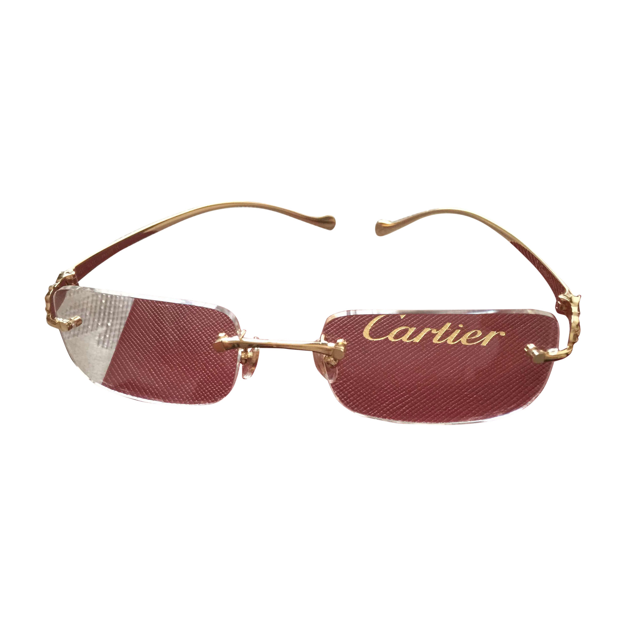 bca746d7cf8 Monture de lunettes CARTIER doré vendu par Alice 1967 - 5081631