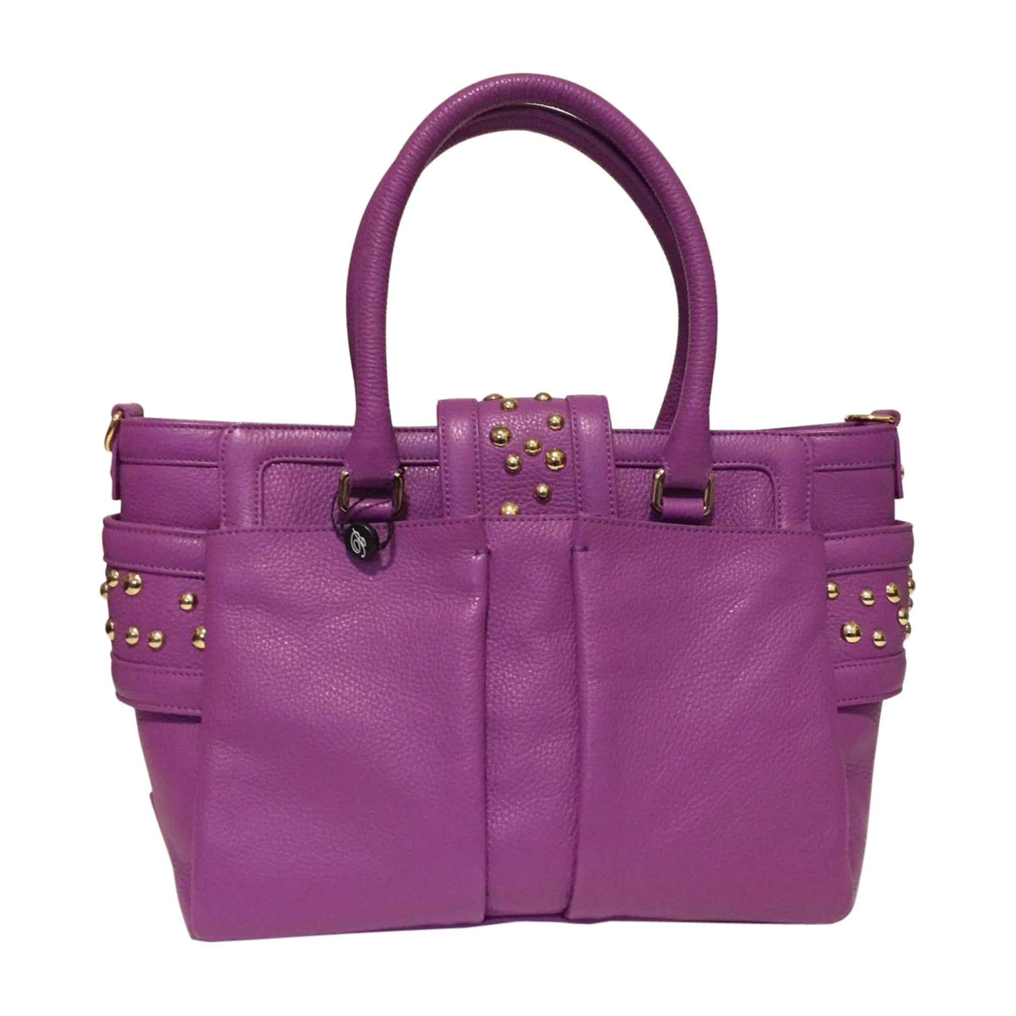 Sac à main en cuir BLUMARINE cuir violet