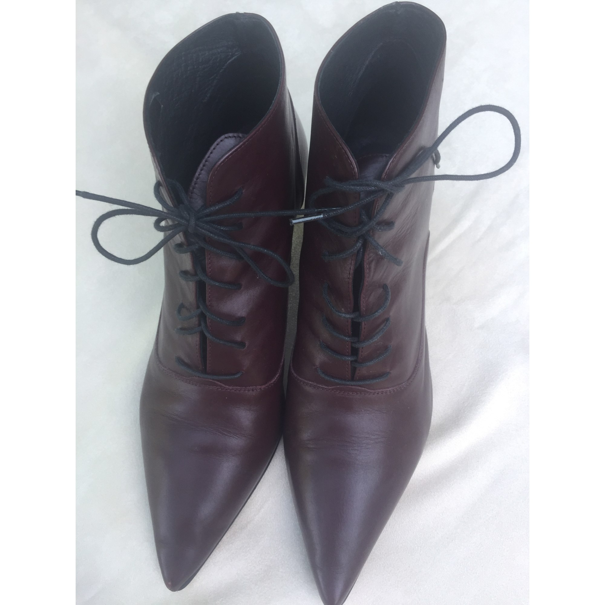 836a5458b9a Bottines   low boots à talons A BY ANDRE 40 rouge - 5133985