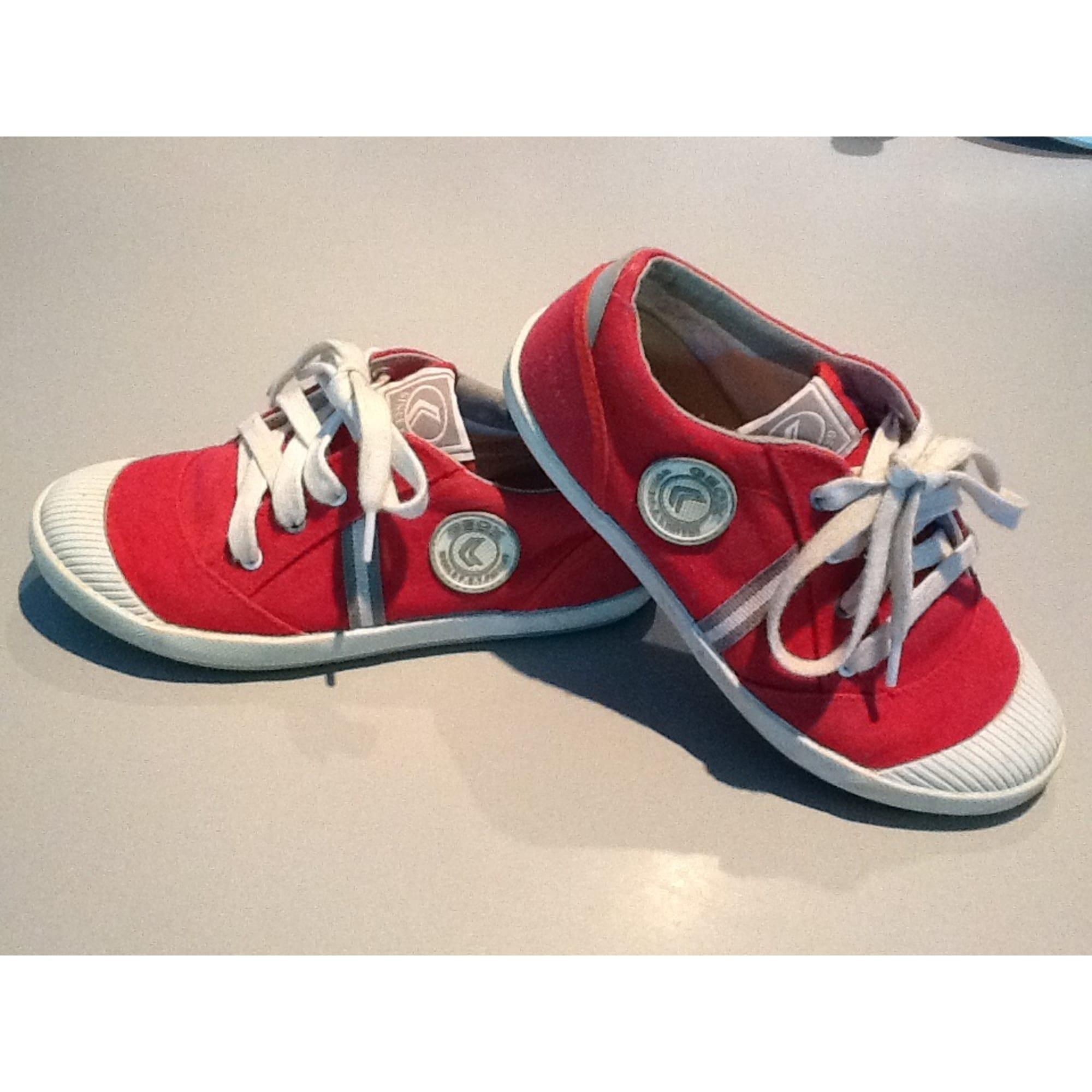 Chaussures à lacets GEOX Rouge, bordeaux