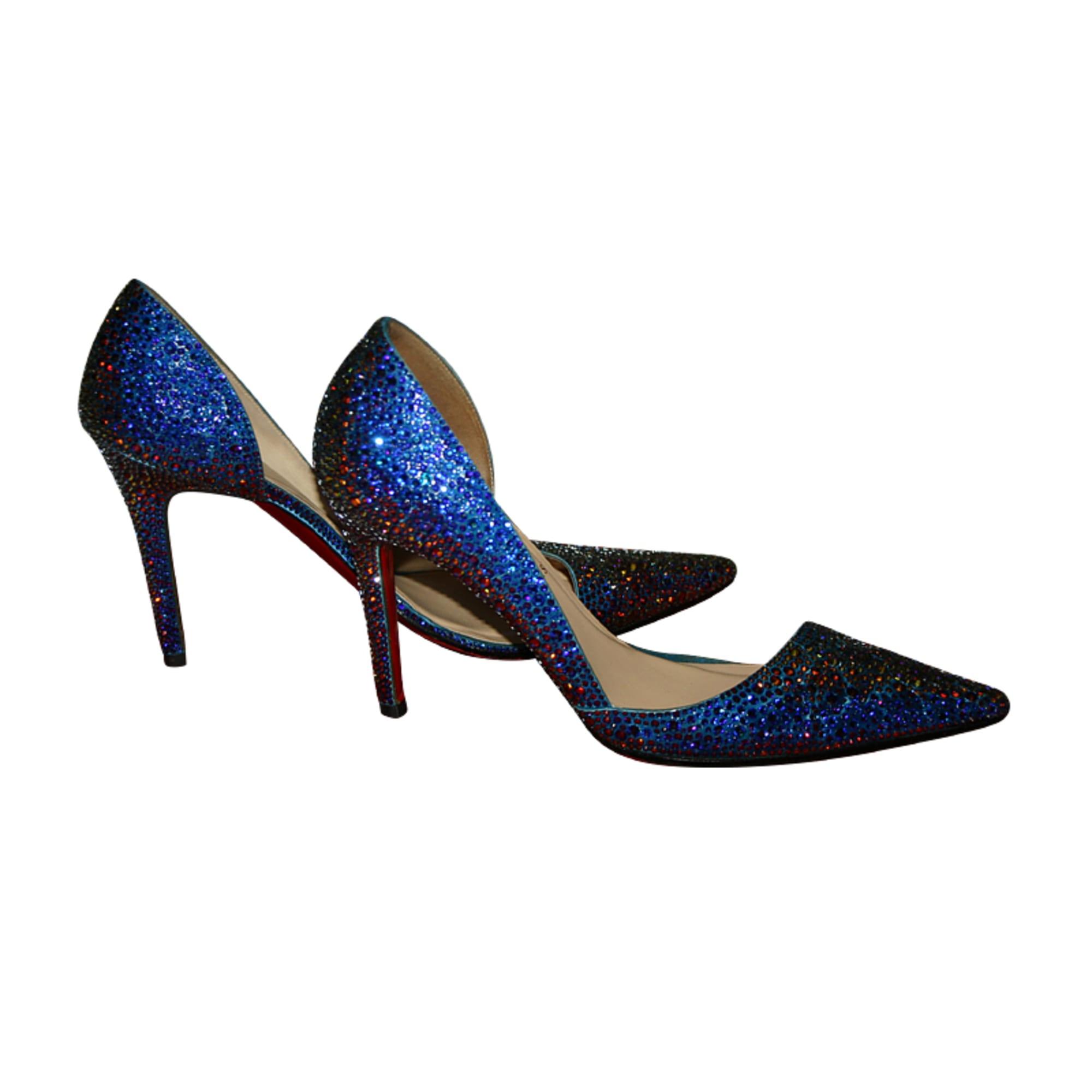 Escarpins CHRISTIAN LOUBOUTIN 37,5 bleu vendu par Clémanon52256 - 514935 ef592d8e3f0a