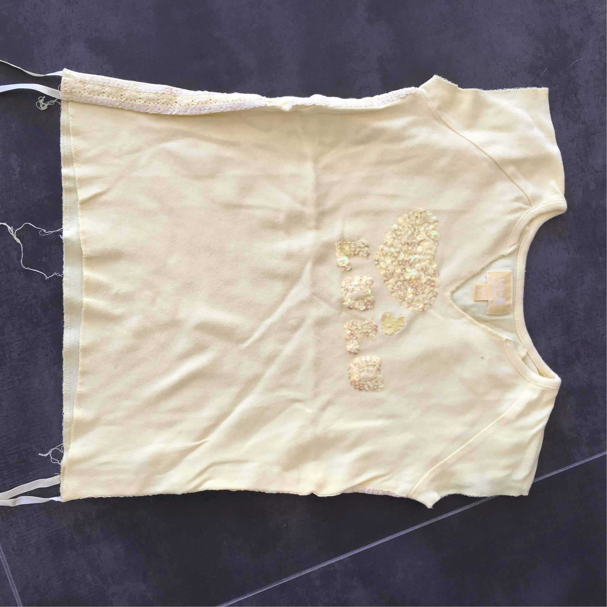 Top, Tee-shirt LULU CASTAGNETTE Jaune