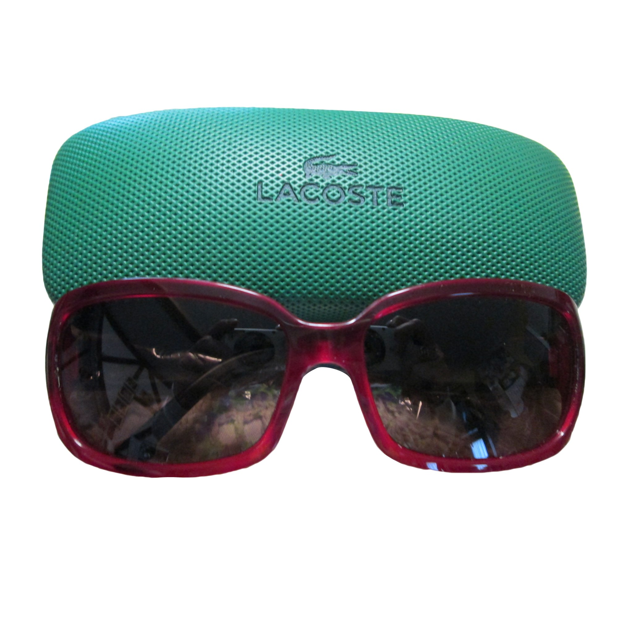 Lunettes de soleil LACOSTE rouge vendu par Yaya - 5159152 1492eec8bc02