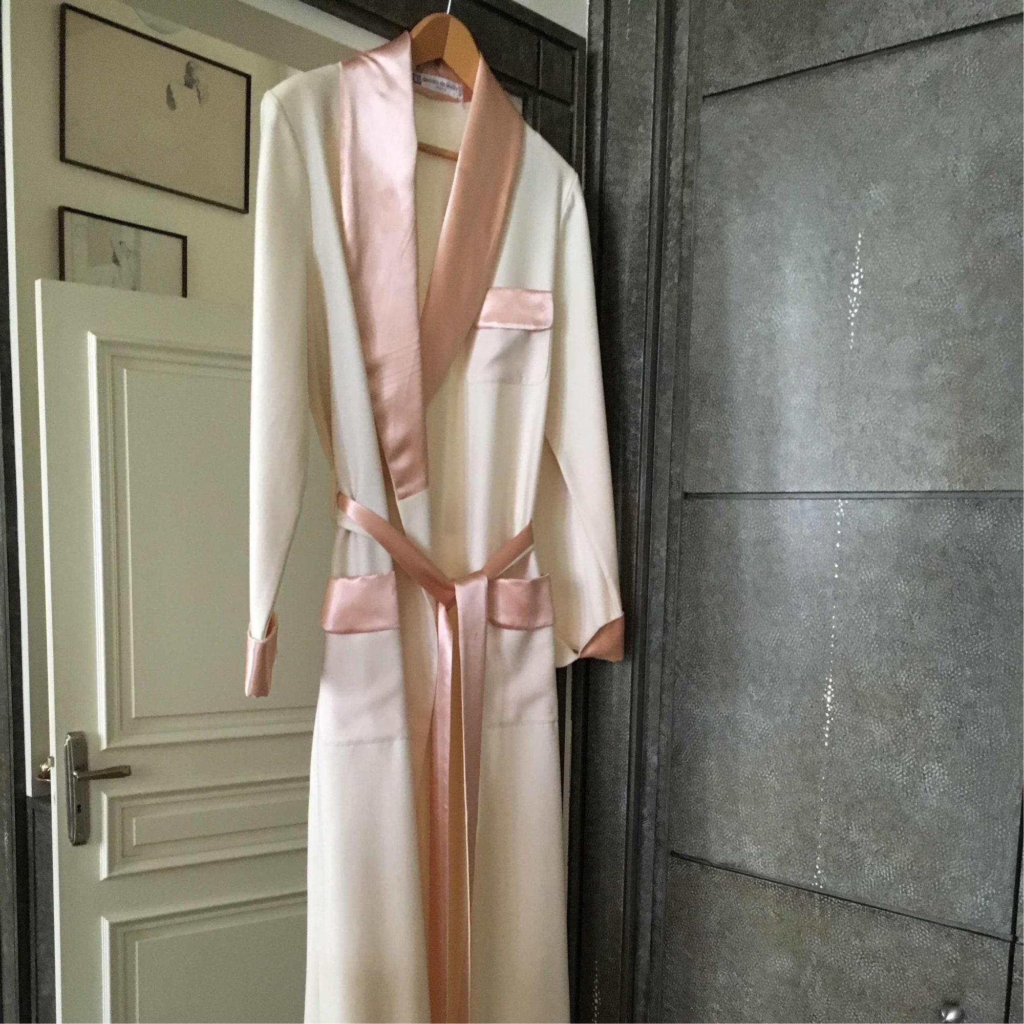 Robe de chambre marque inconnue 40 l t3 blanc 5161935 - Robes de chambre de marque ...