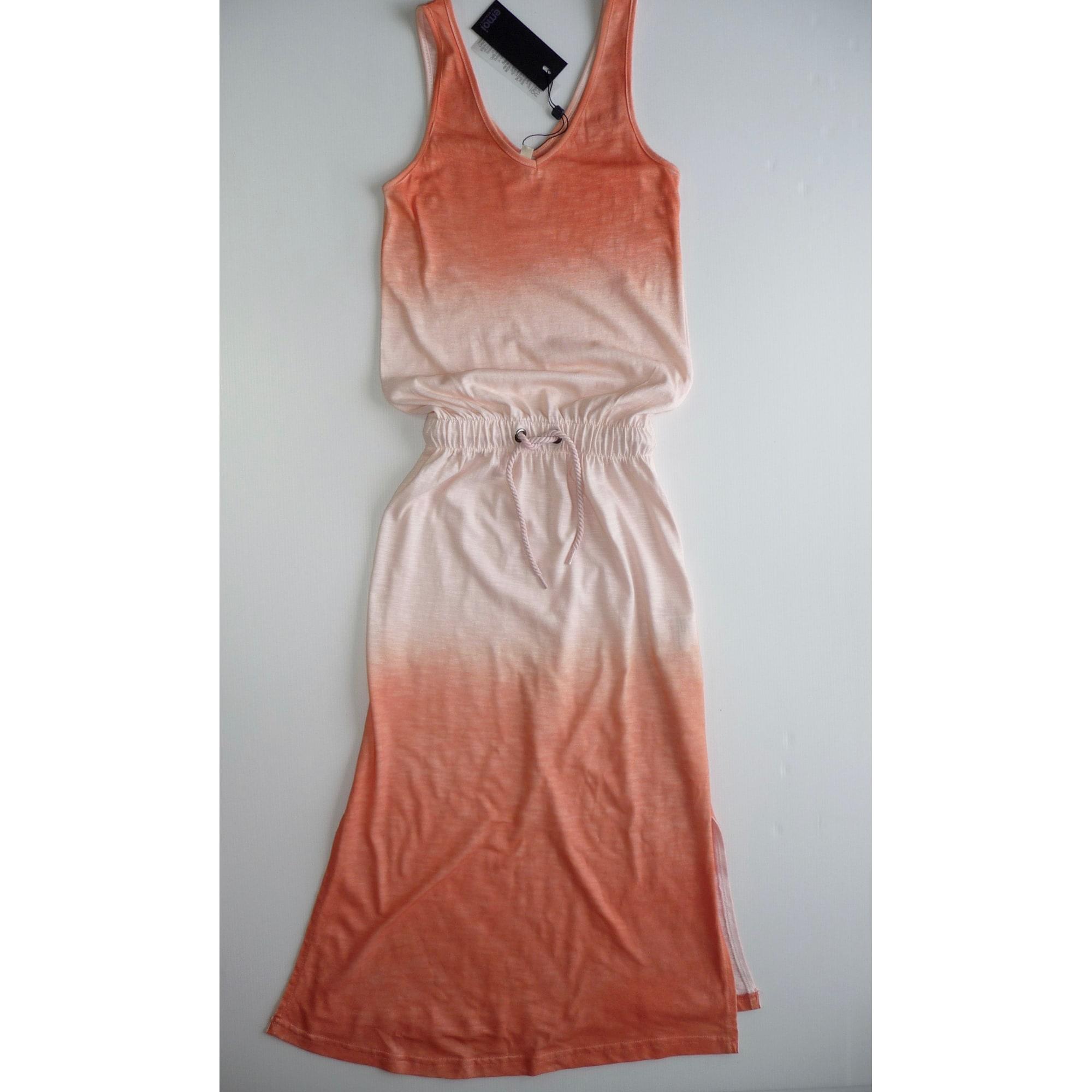Robe EMOI BY EMONITE coton orange 7-8 ans