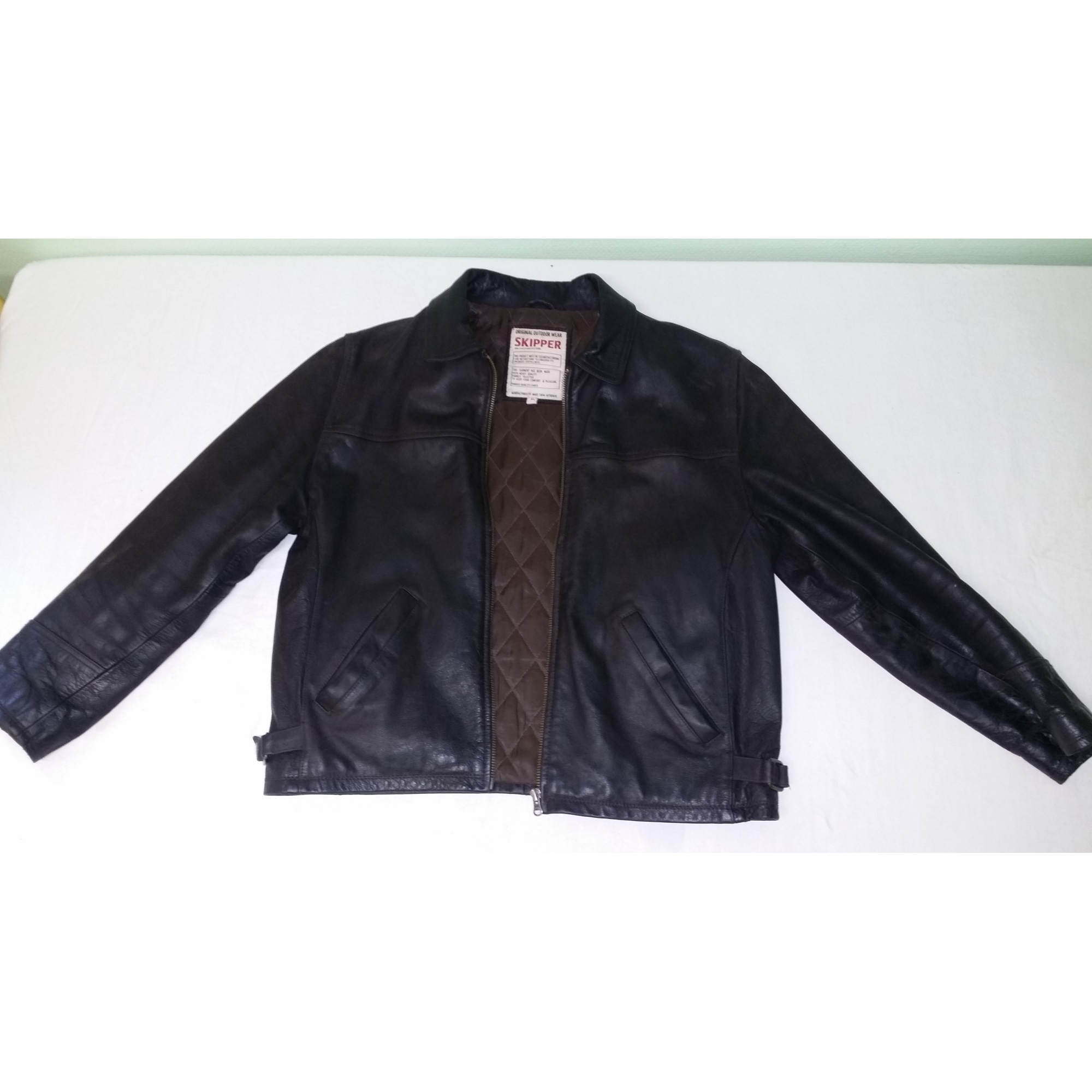 Blouson en cuir SKIPPER 52 (L) marron 6724578