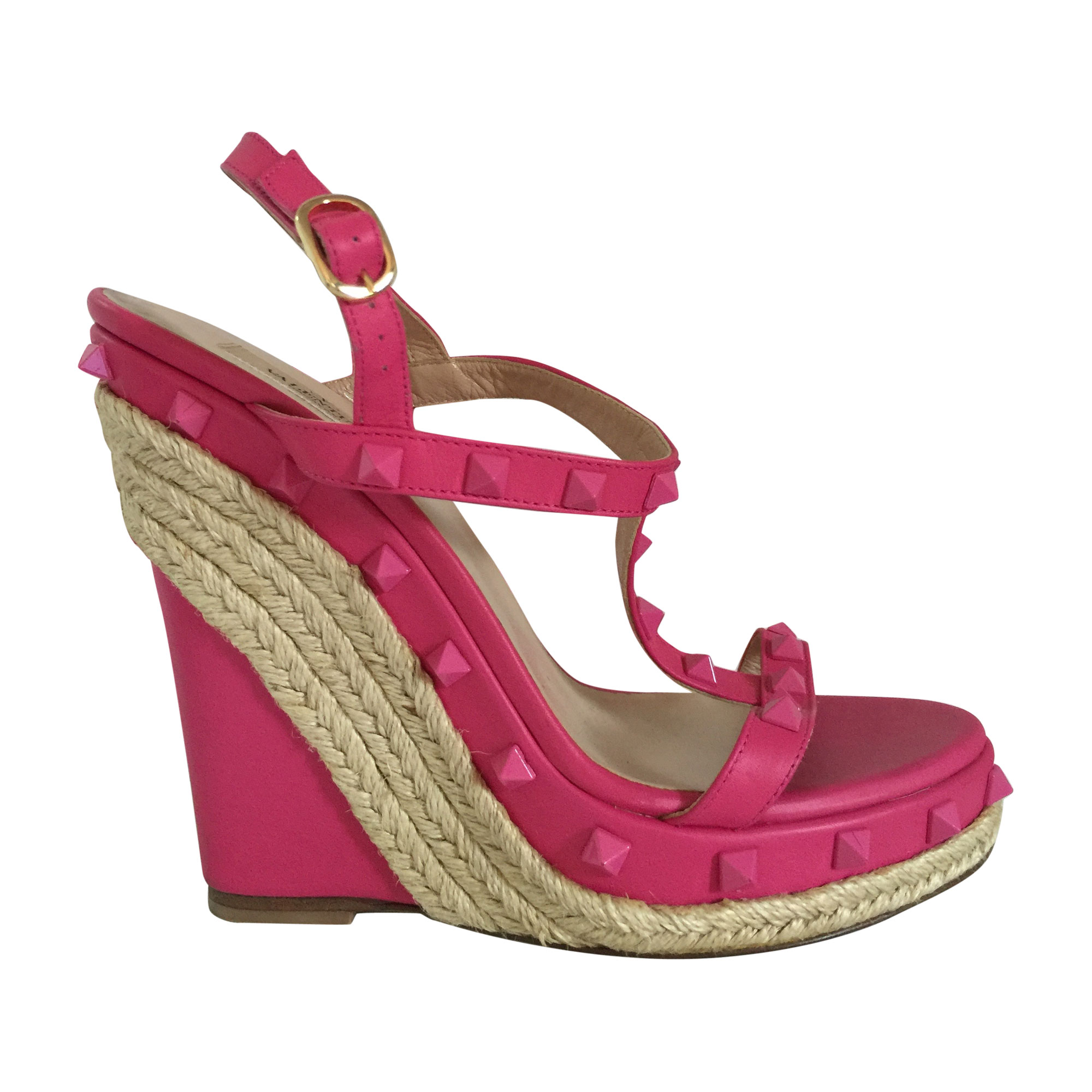 38 Compensées 5190978 Rose Valentino Sandales mNn0vPy8wO