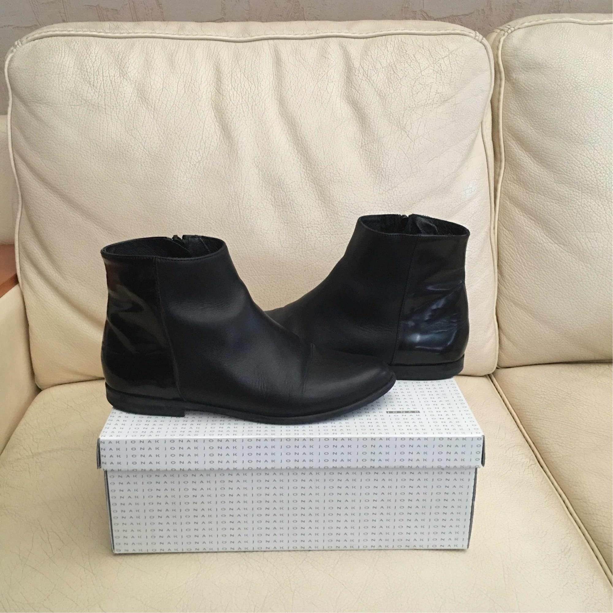 6b3113cd80c Bottines   low boots plates JONAK 38 noir vendu par Chacha chou ...