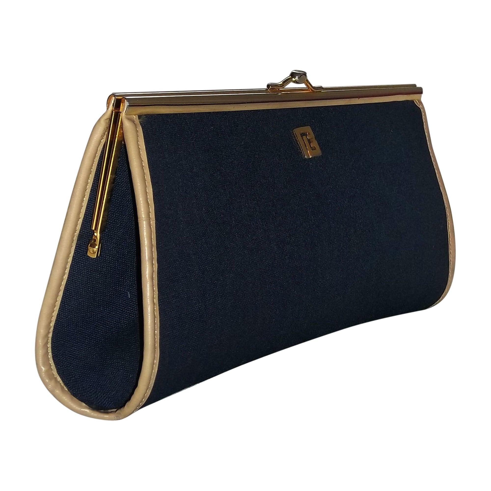 Sac 5214706 Cuir Pochette Bleu En Balmain redBoCx