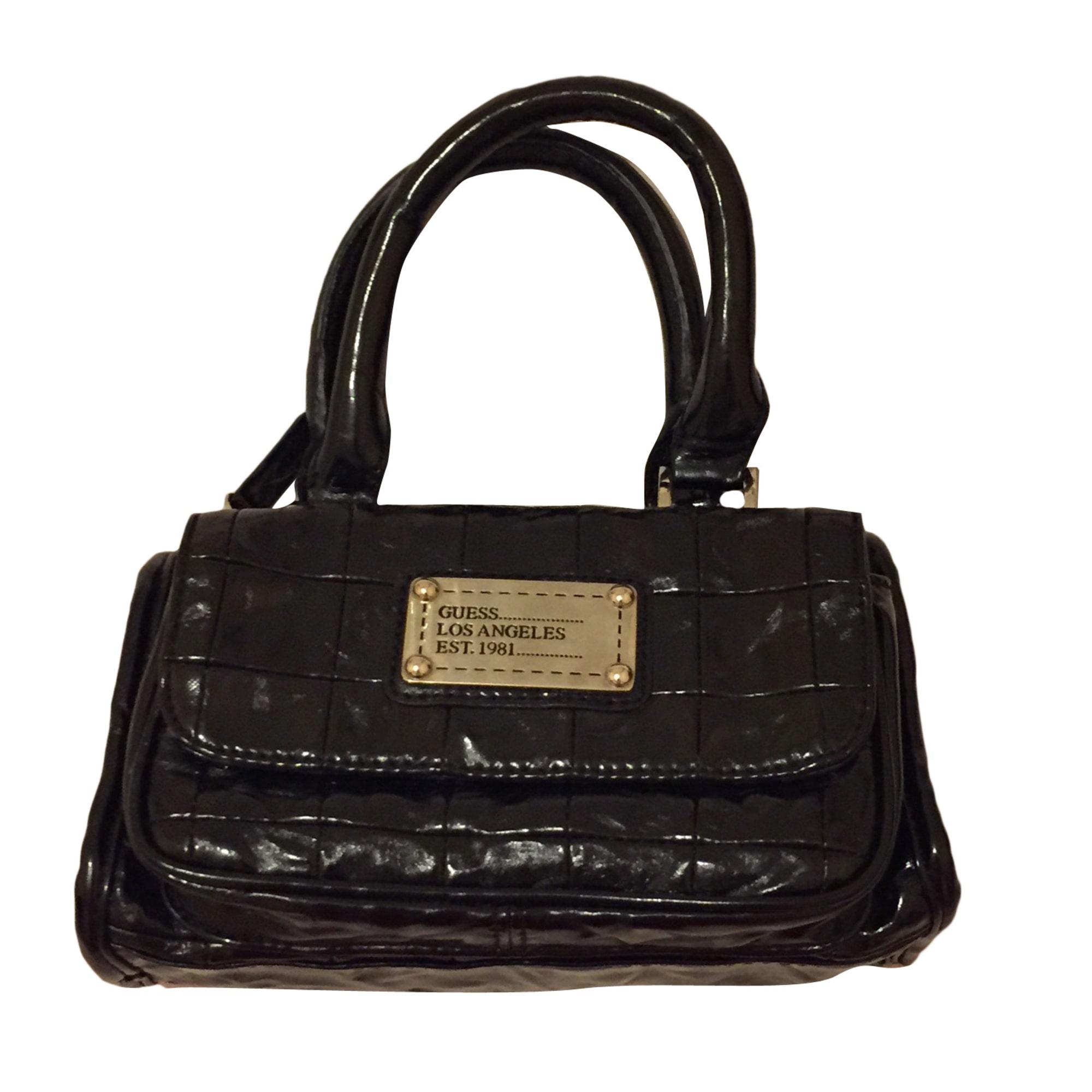 f1cf6f692e Sac pochette en cuir GUESS noir - 5256478