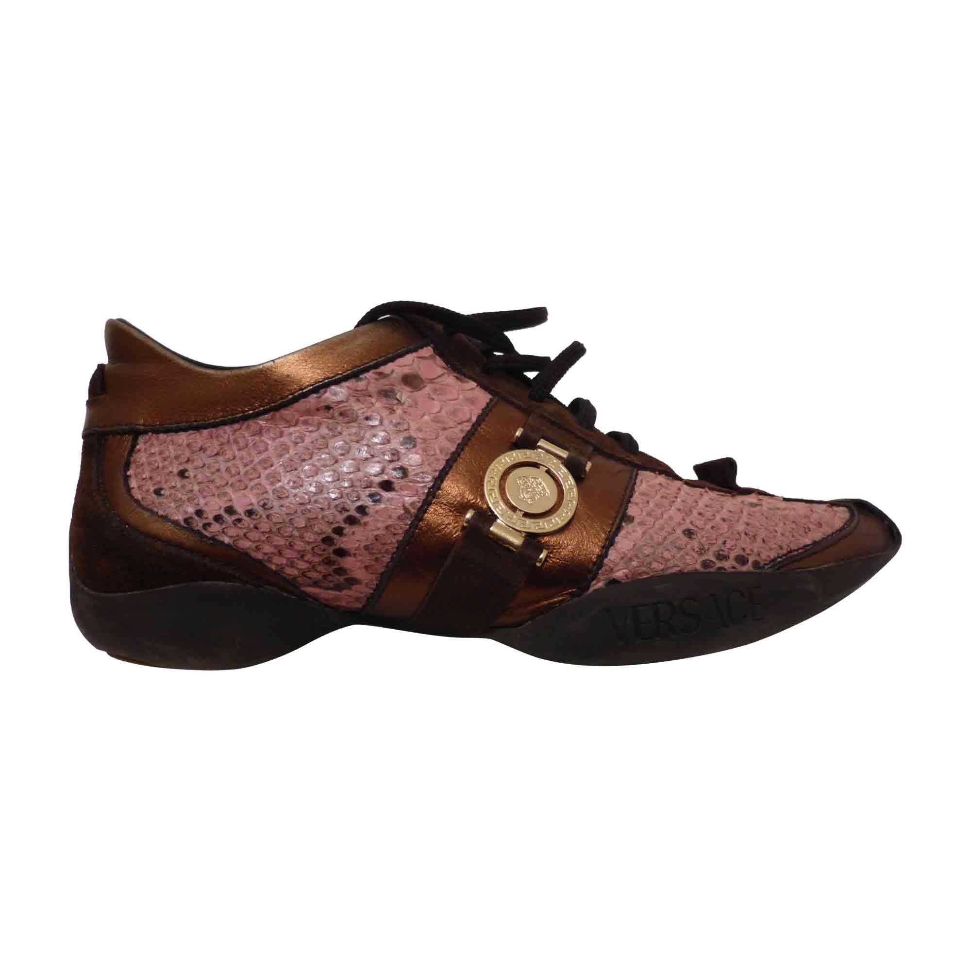 83273a267b Chaussures à lacets VERSACE Rose, fuschia, vieux rose