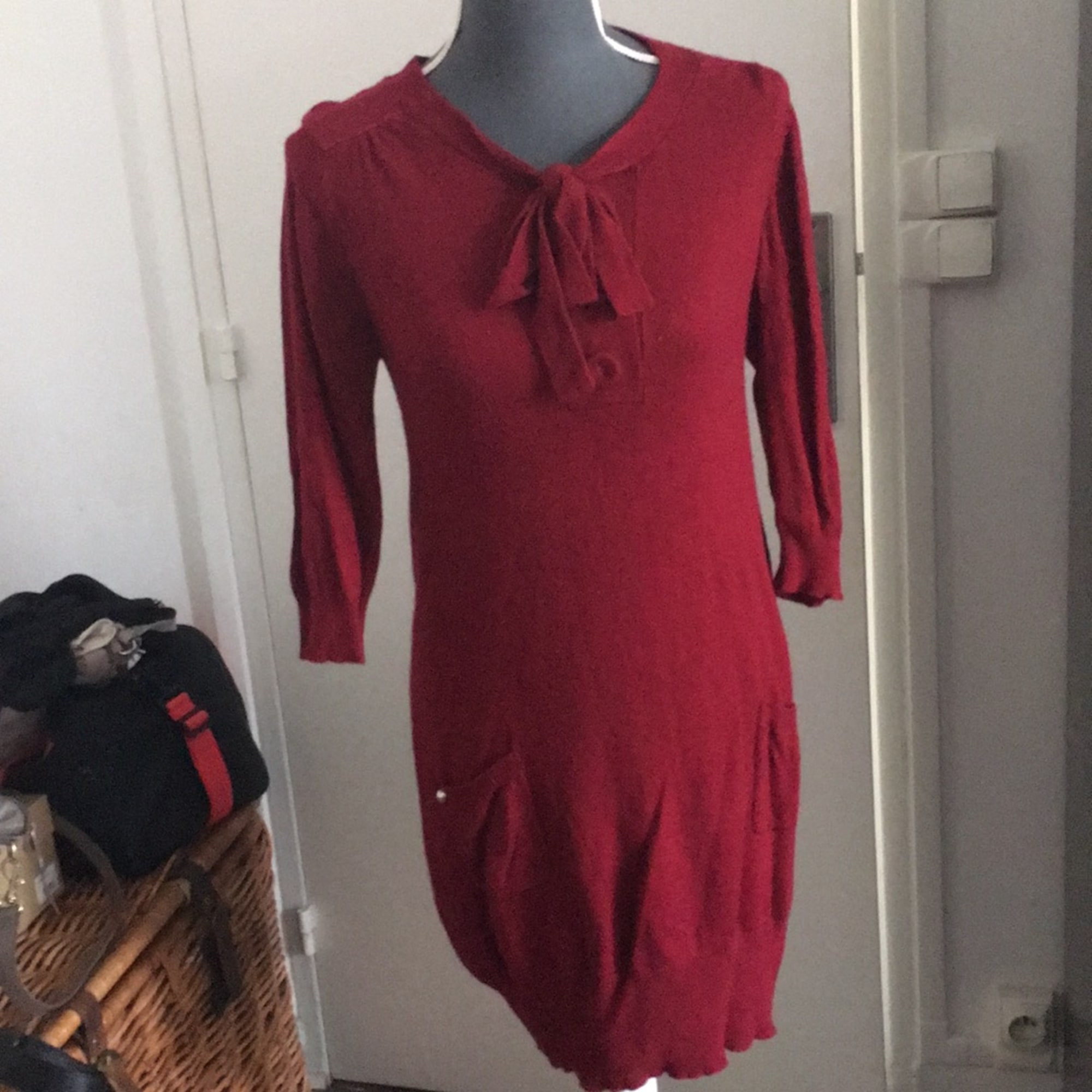 Robe pull LOLLIPOPS Rouge, bordeaux