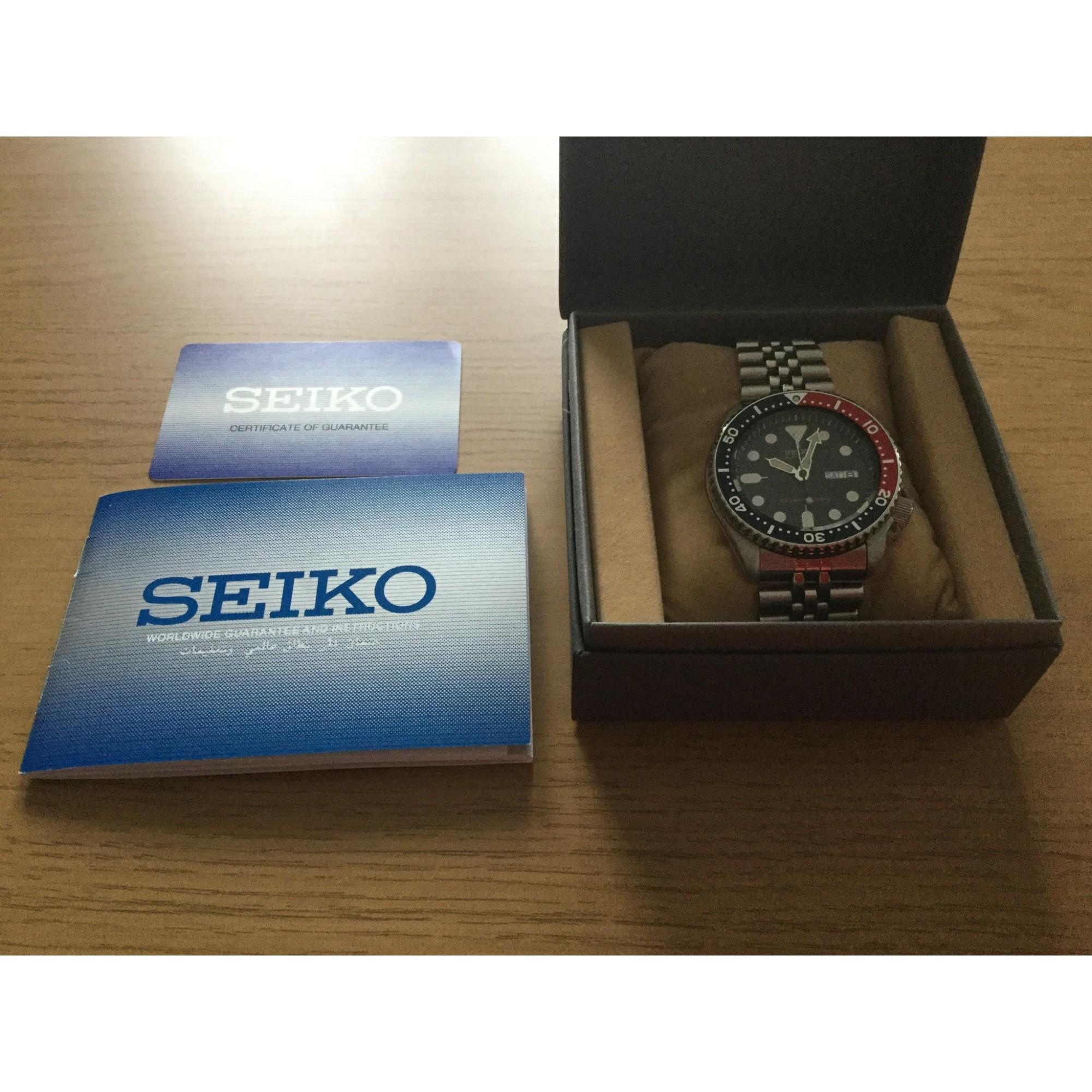 19bf9bac2b19 Montre au poignet SEIKO SKX009 K2 bleu - 5306279