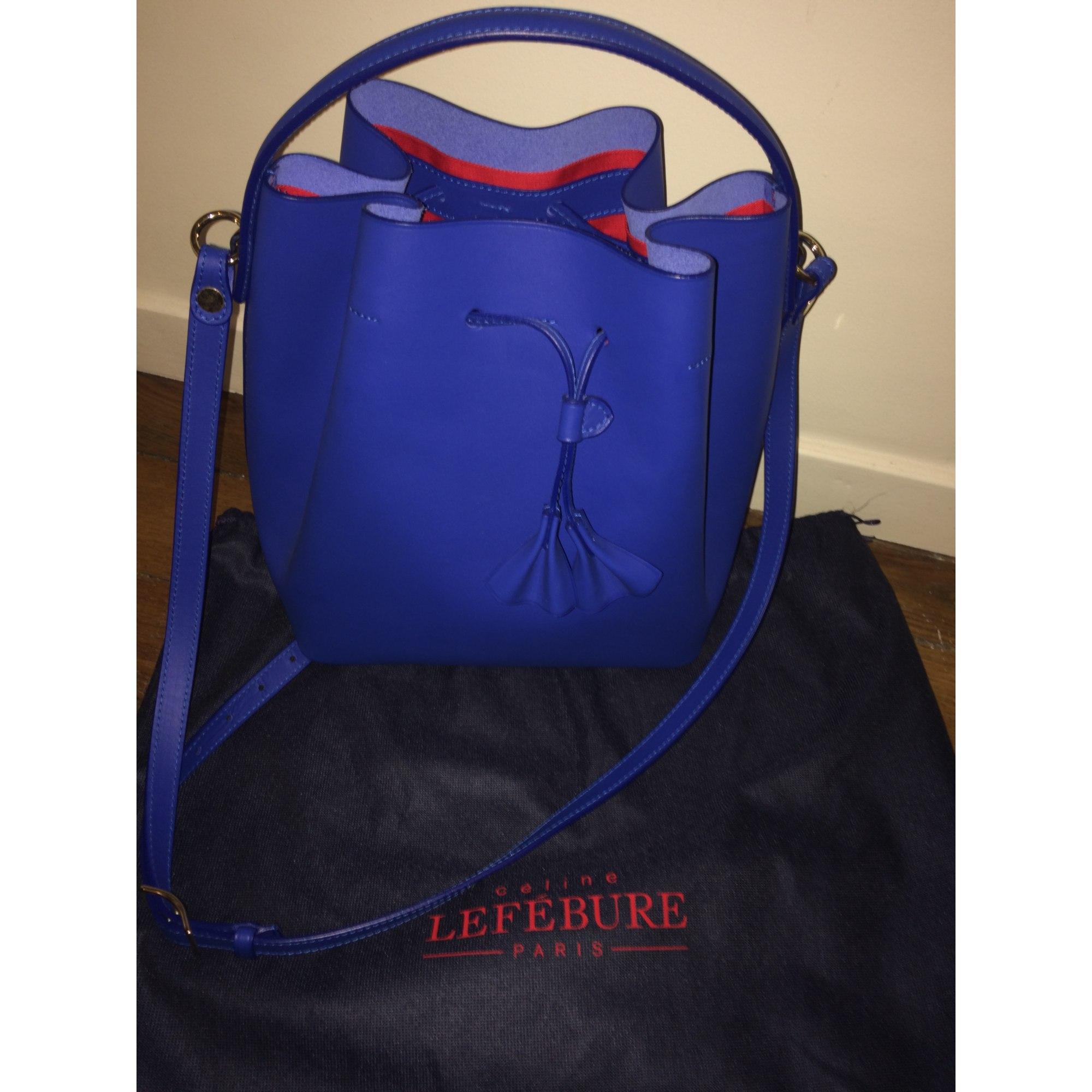 CÉLINE bandoulière 5332112 Sac cuir LEFEBURE en bleu en wUwBIq 2613a2773462