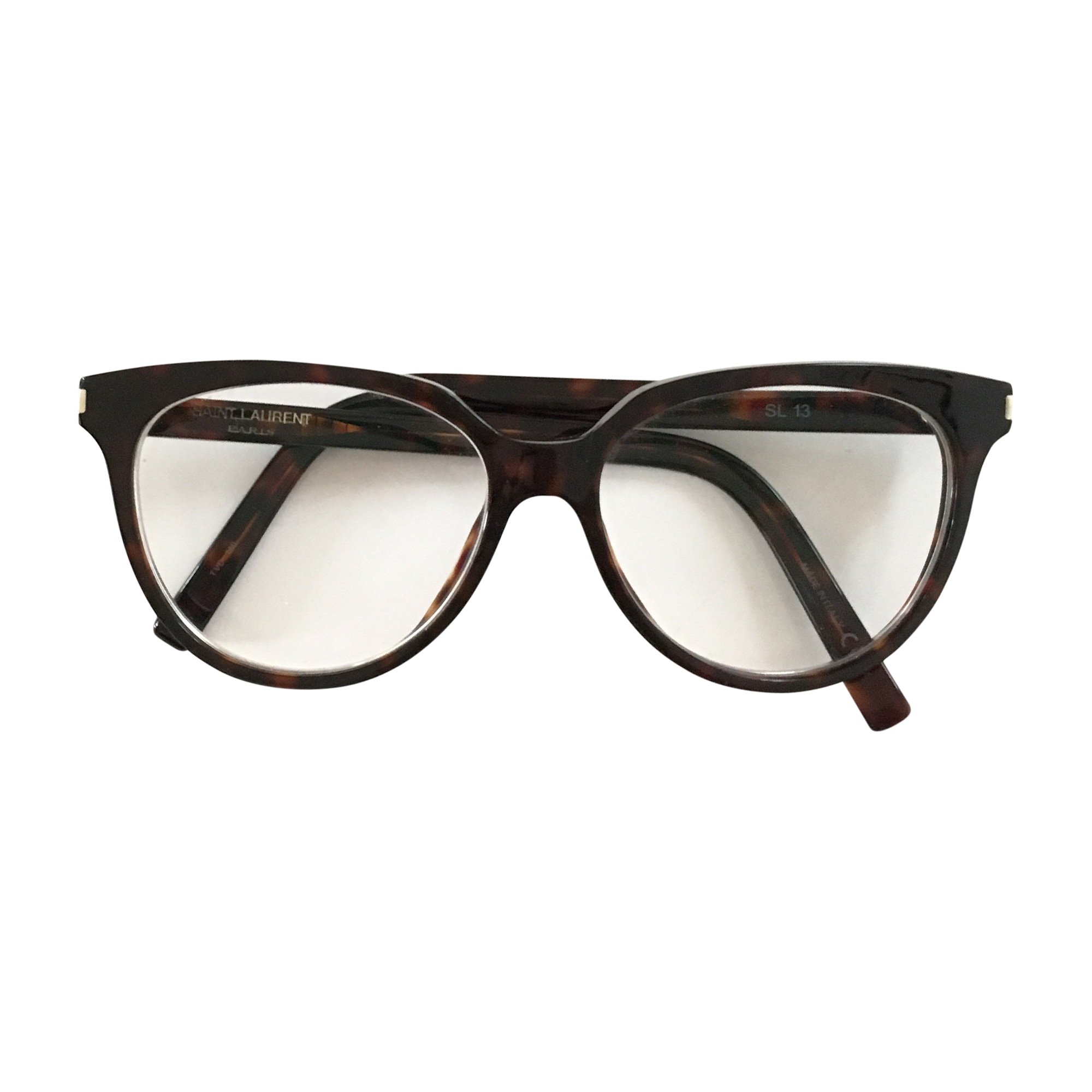 monture de lunettes saint laurent marron vendu par mariceline 5345128. Black Bedroom Furniture Sets. Home Design Ideas